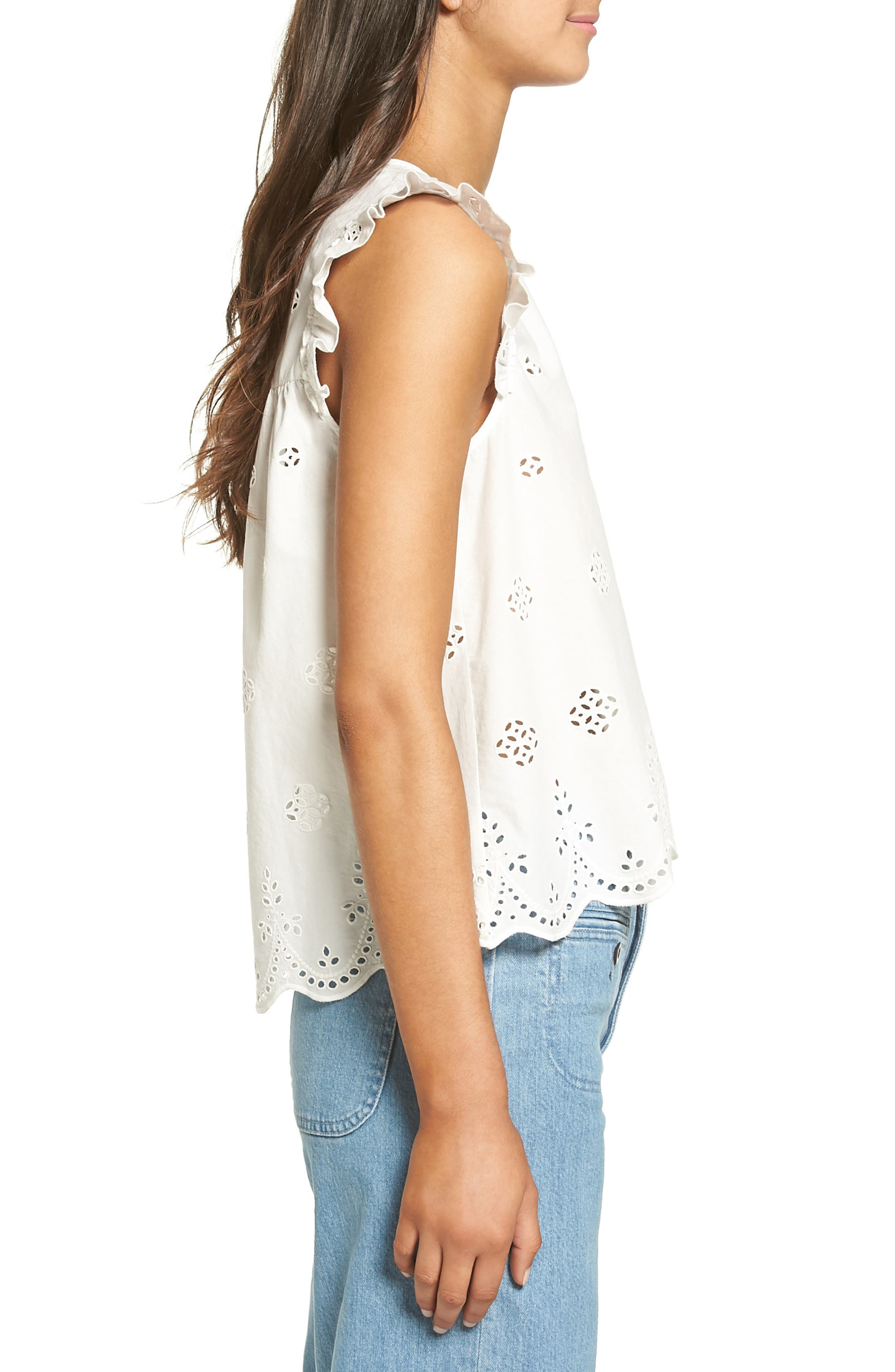Alternate Image 3  - Madewell Eyelet Garden Sleeveless Top