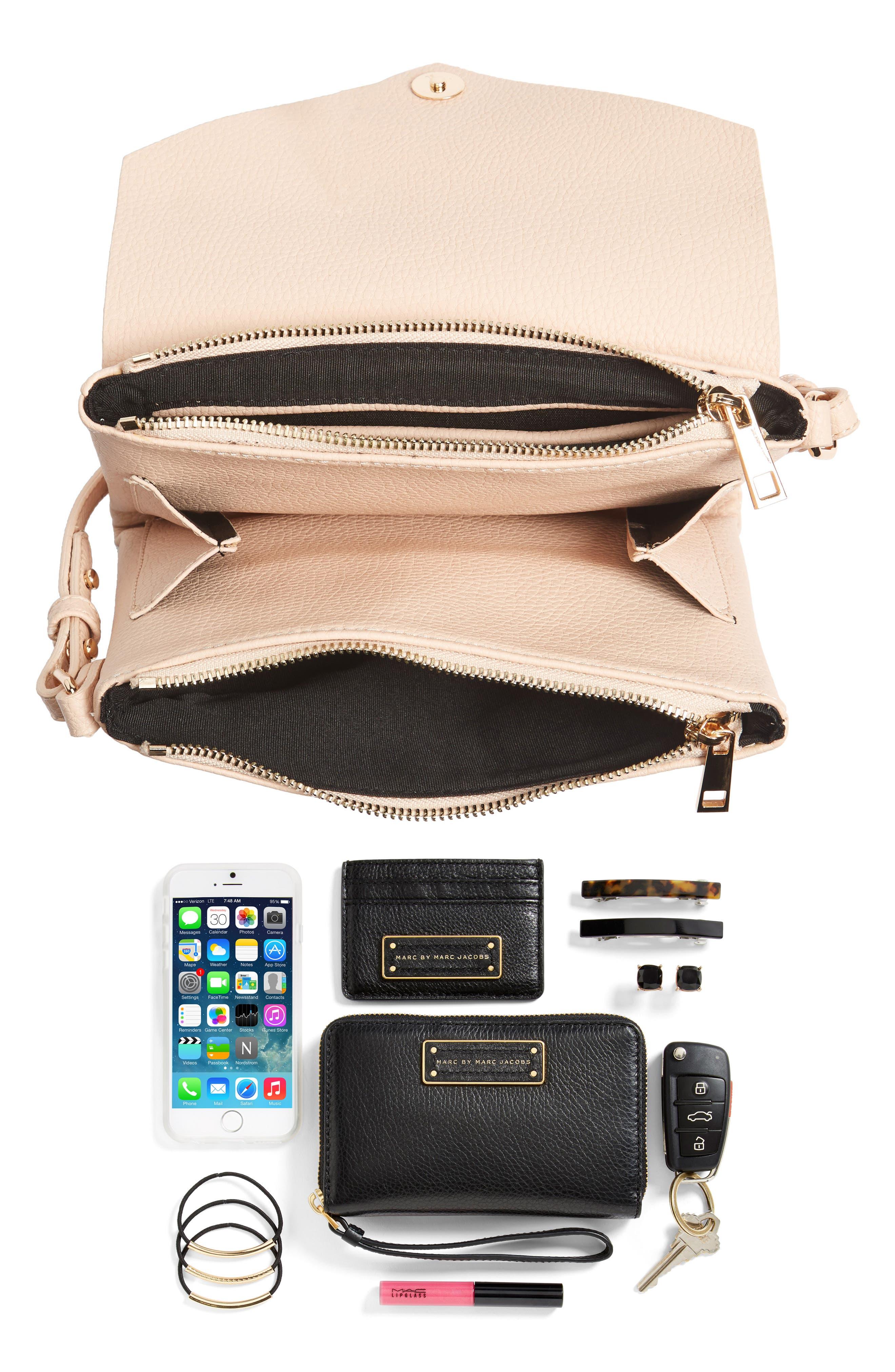 Alternate Image 7  - Street Level Faux Leather Envelope Crossbody Bag