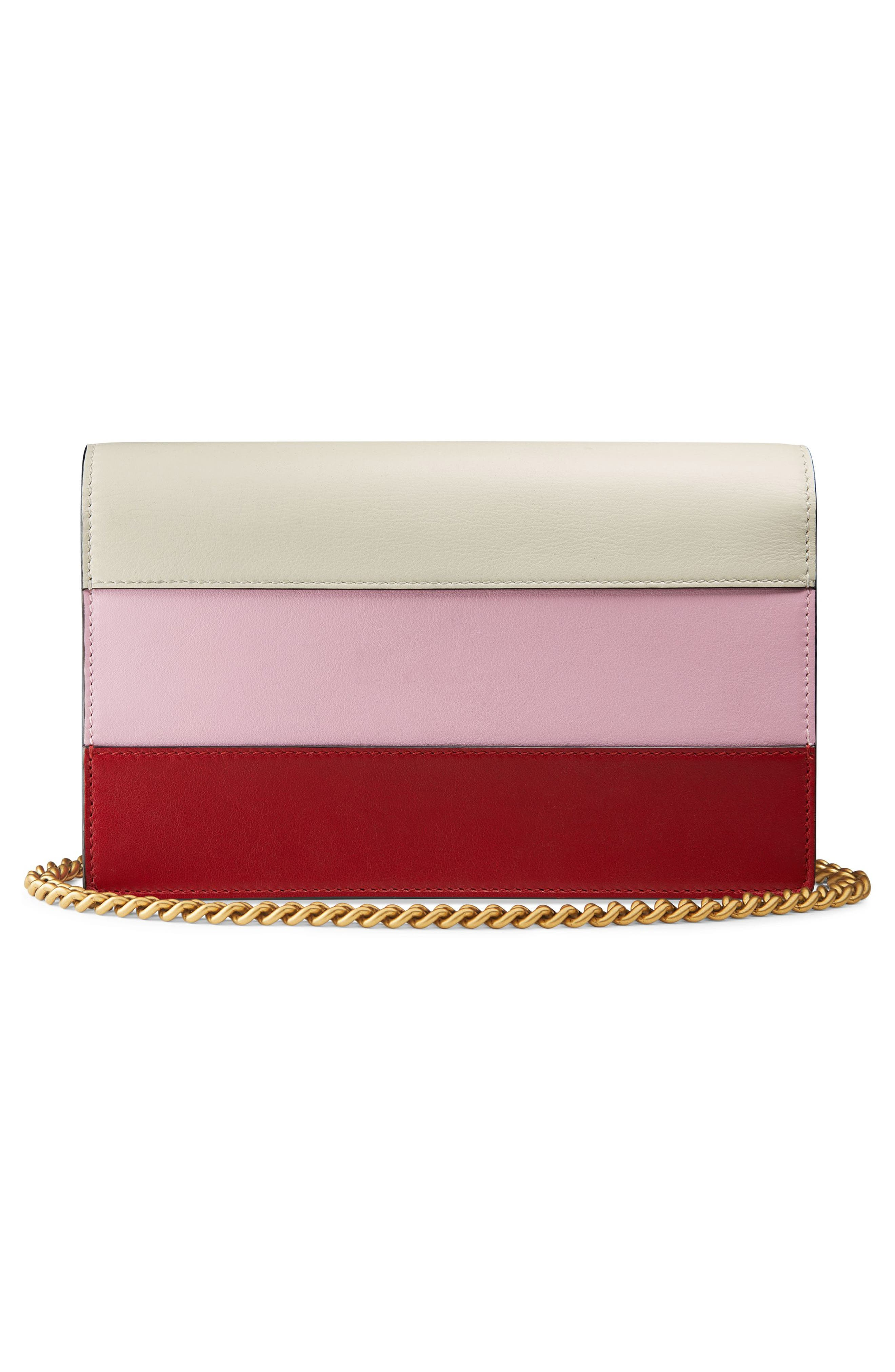 Alternate Image 2  - Gucci Mini Bee Multistripe Leather Shoulder Bag