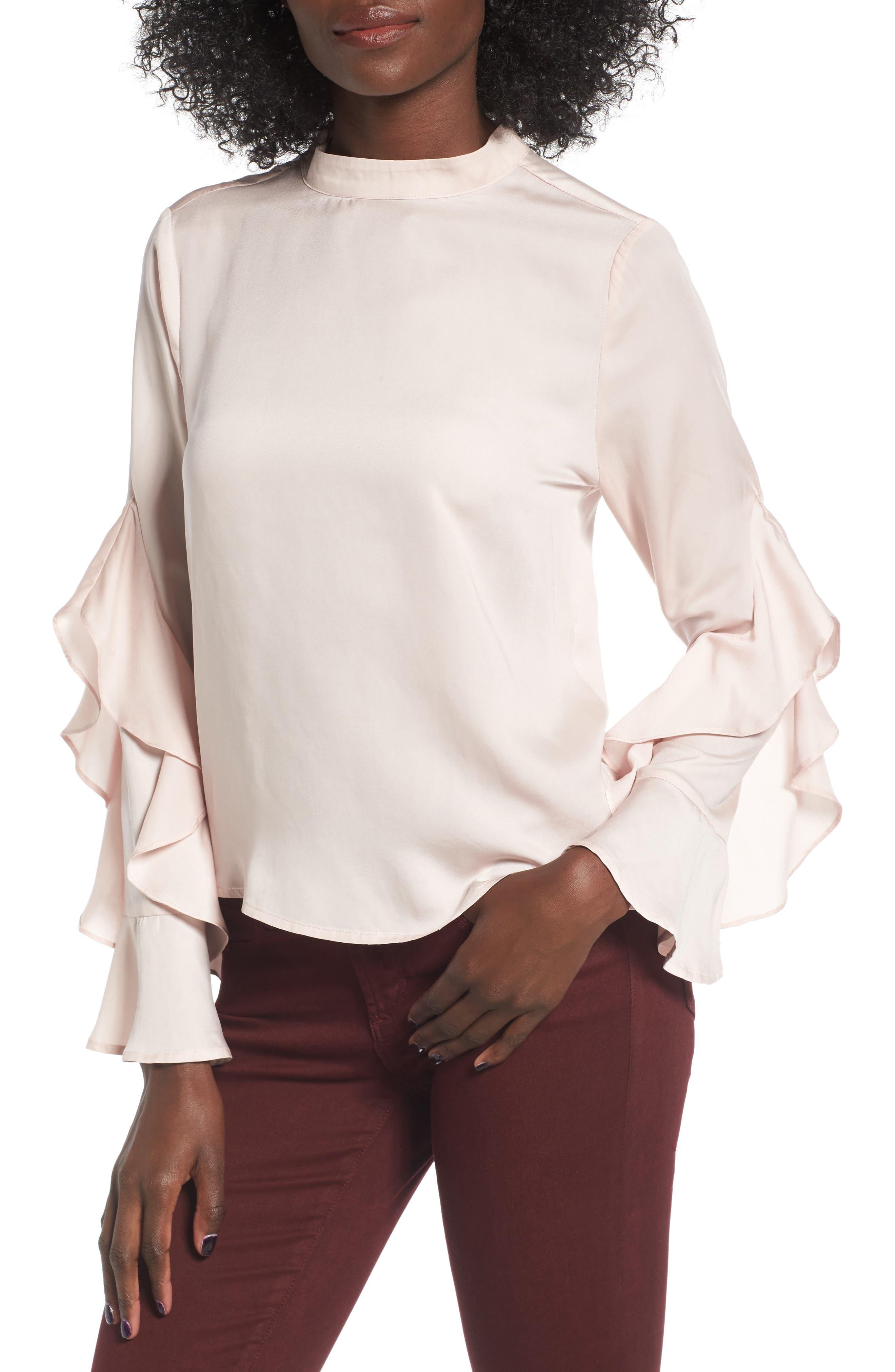 Elodie Ruffle Sleeve Blouse