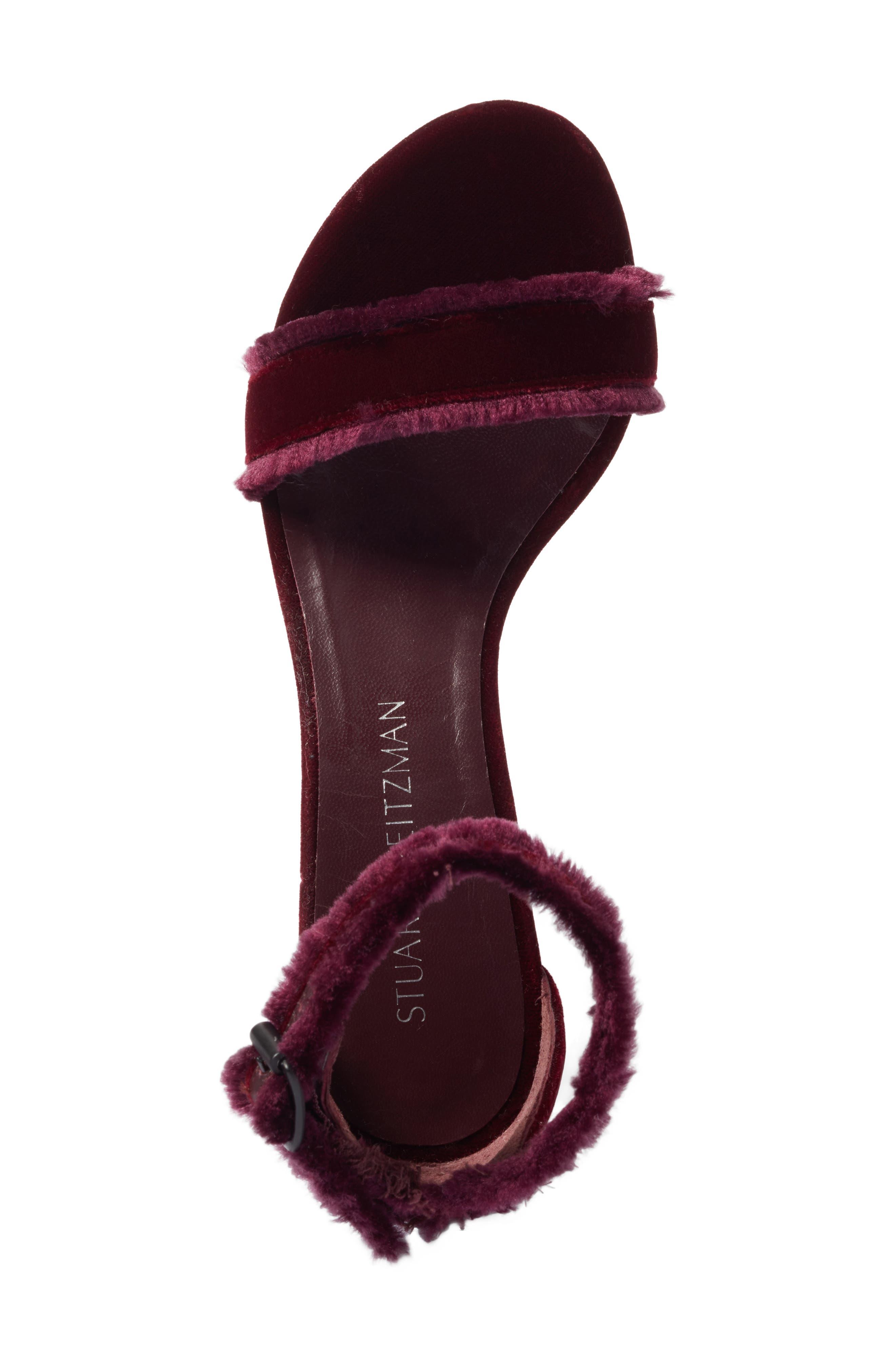 Alternate Image 4  - Stuart Weitzman Frayed Ankle Strap Sandal (Women)