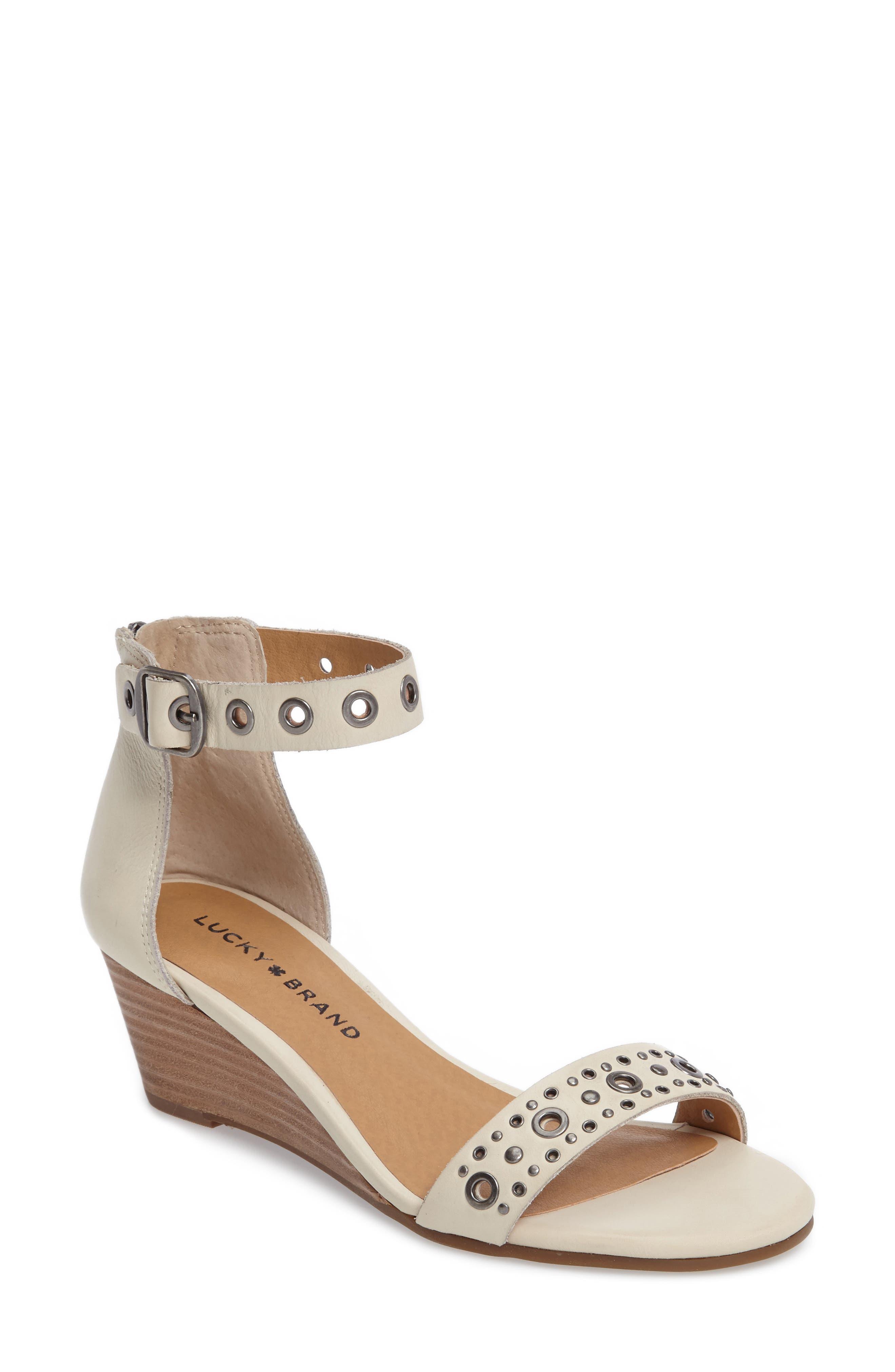 Alternate Image 1 Selected - Lucky Brand Jorey Ankle Strap Wedge Sandal (Women)