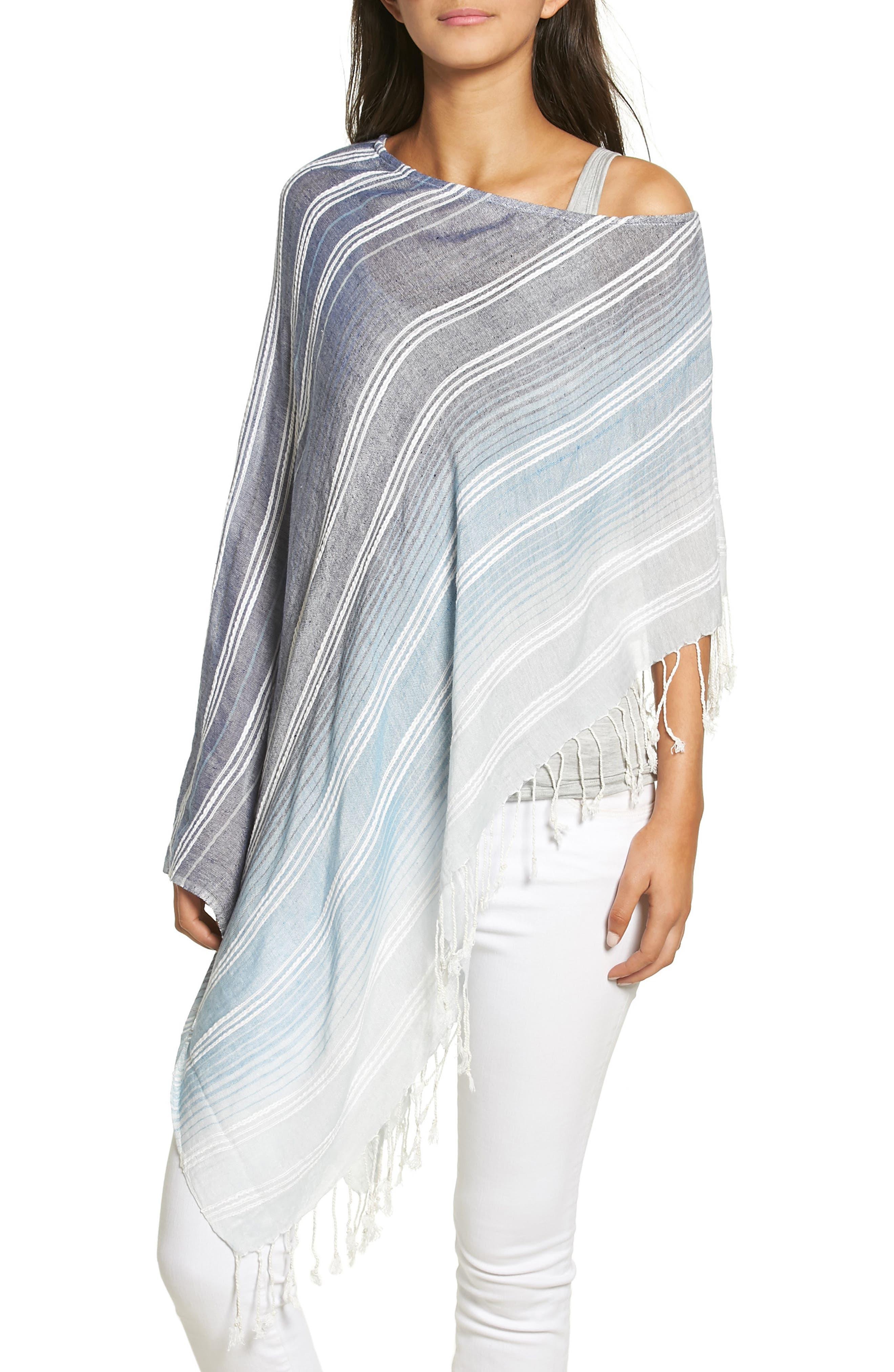 Echo Textured Stripe Poncho