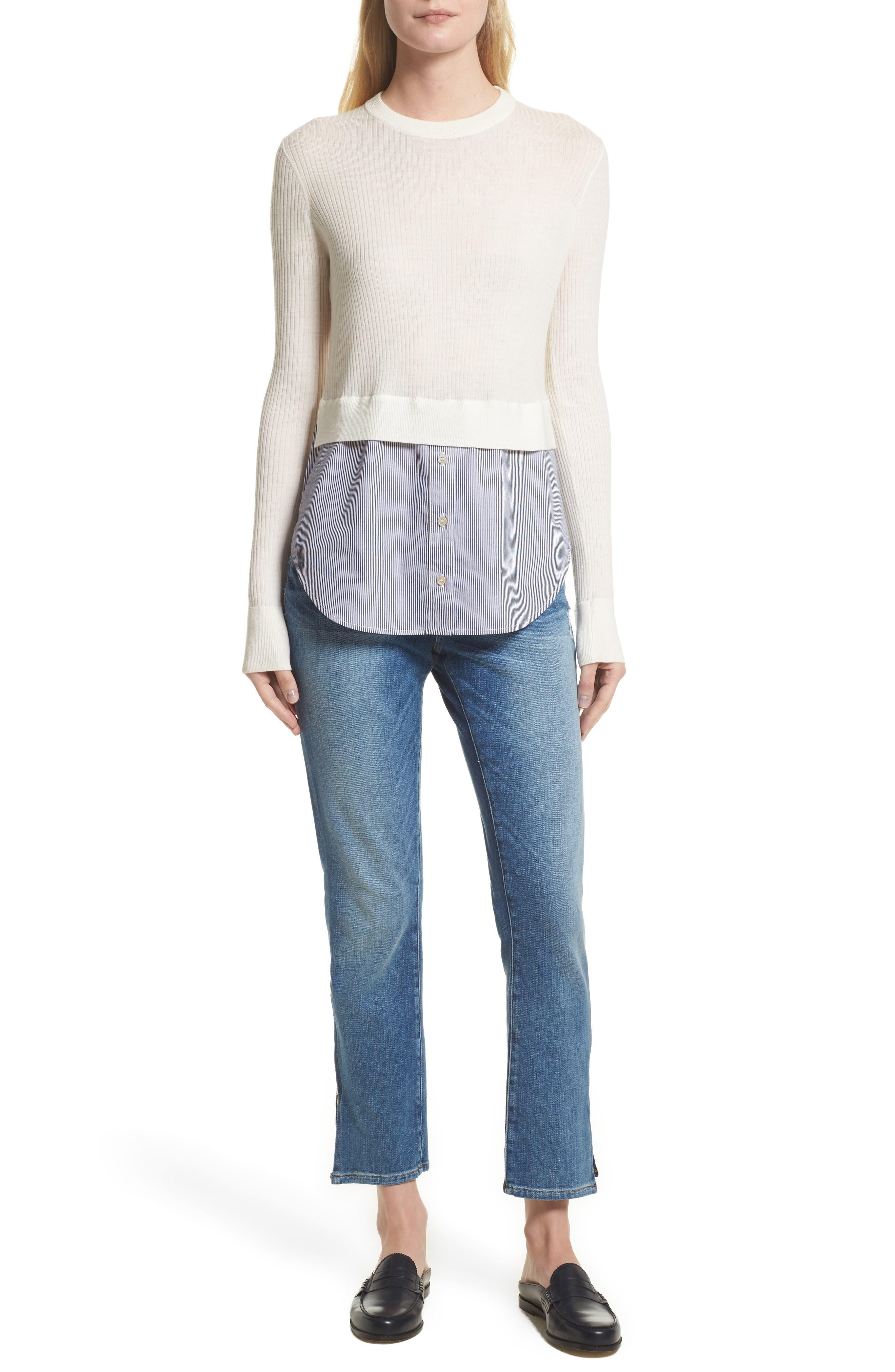 Alternate Image 8  - FRAME Le Boy Zip Hem Crop Jeans (Picadilly) (Nordstrom Exclusive)