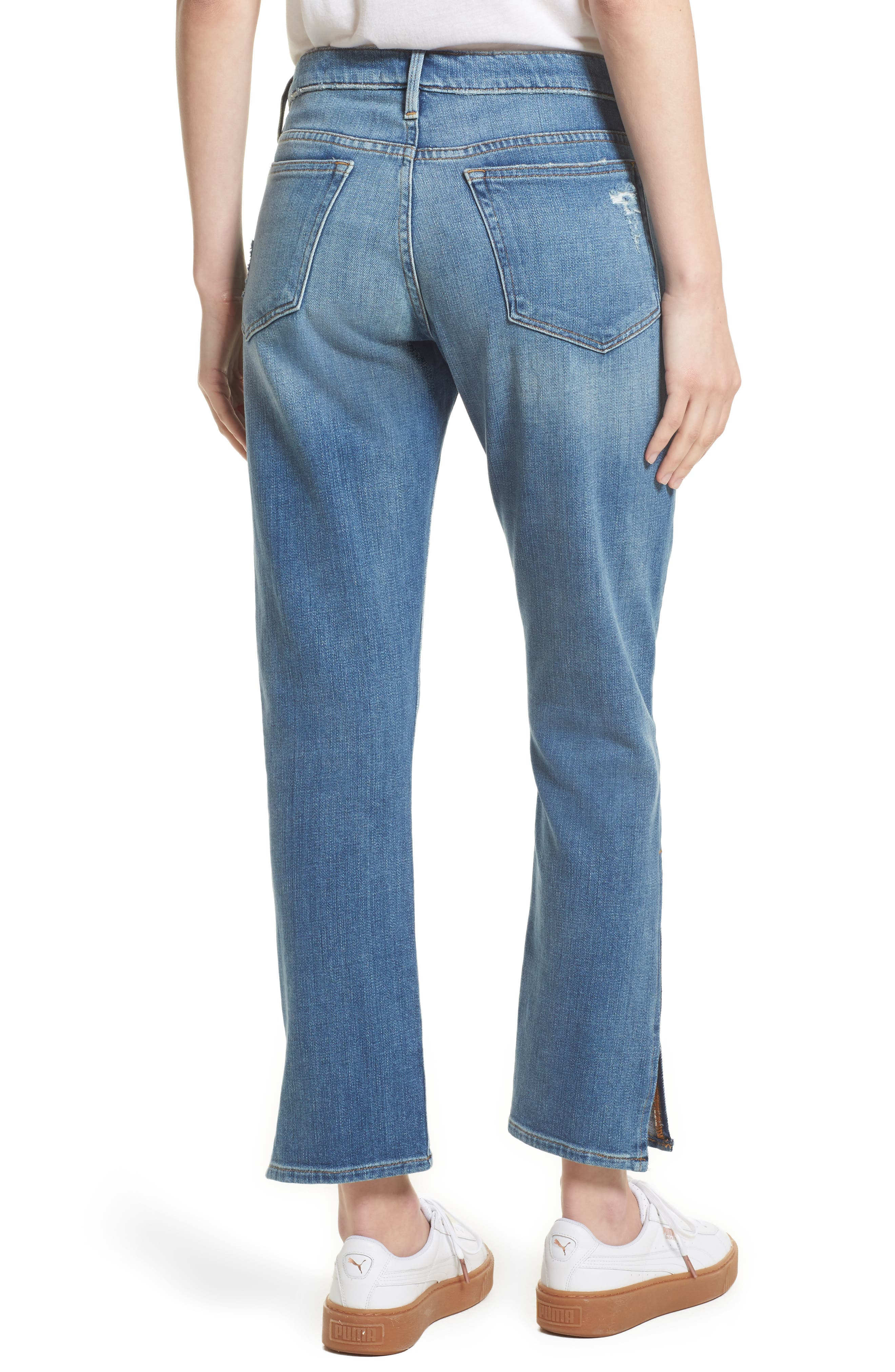 Alternate Image 3  - FRAME Le Boy Zip Hem Crop Jeans (Picadilly) (Nordstrom Exclusive)