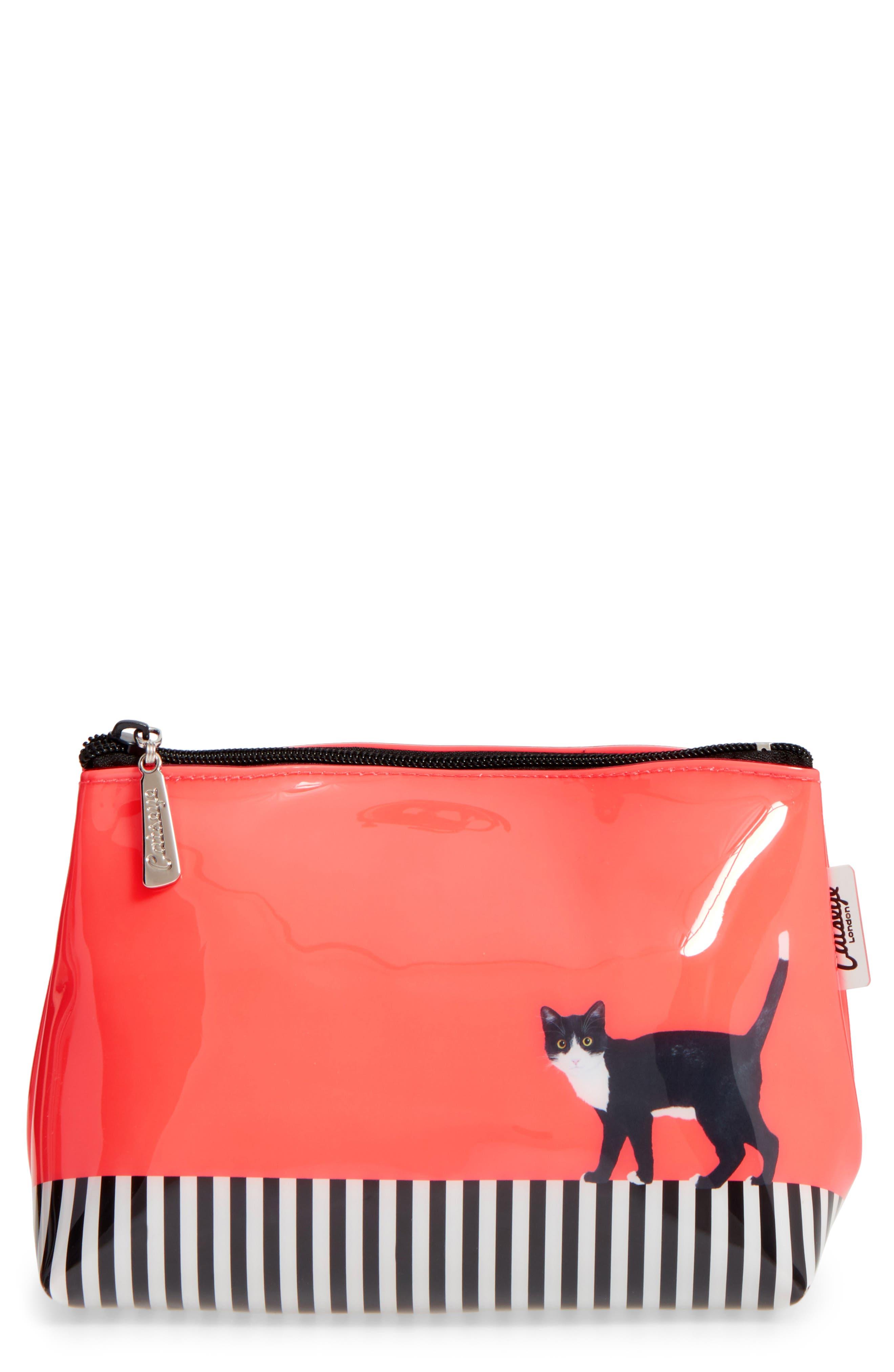 Catseye London Cat On Stripe Cosmetics Case