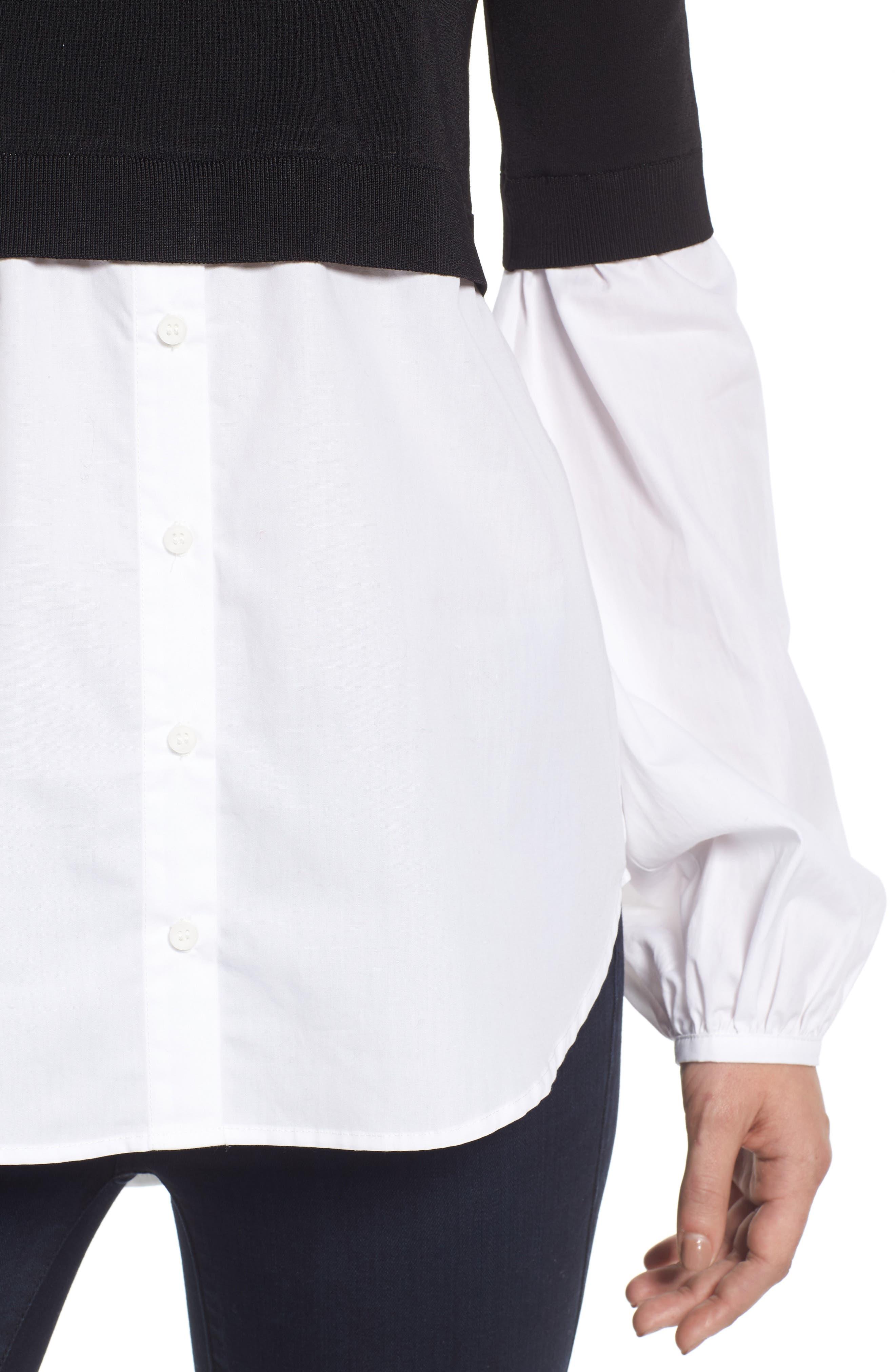 Alternate Image 5  - Trouvé Off the Shoulder Poplin Sweater
