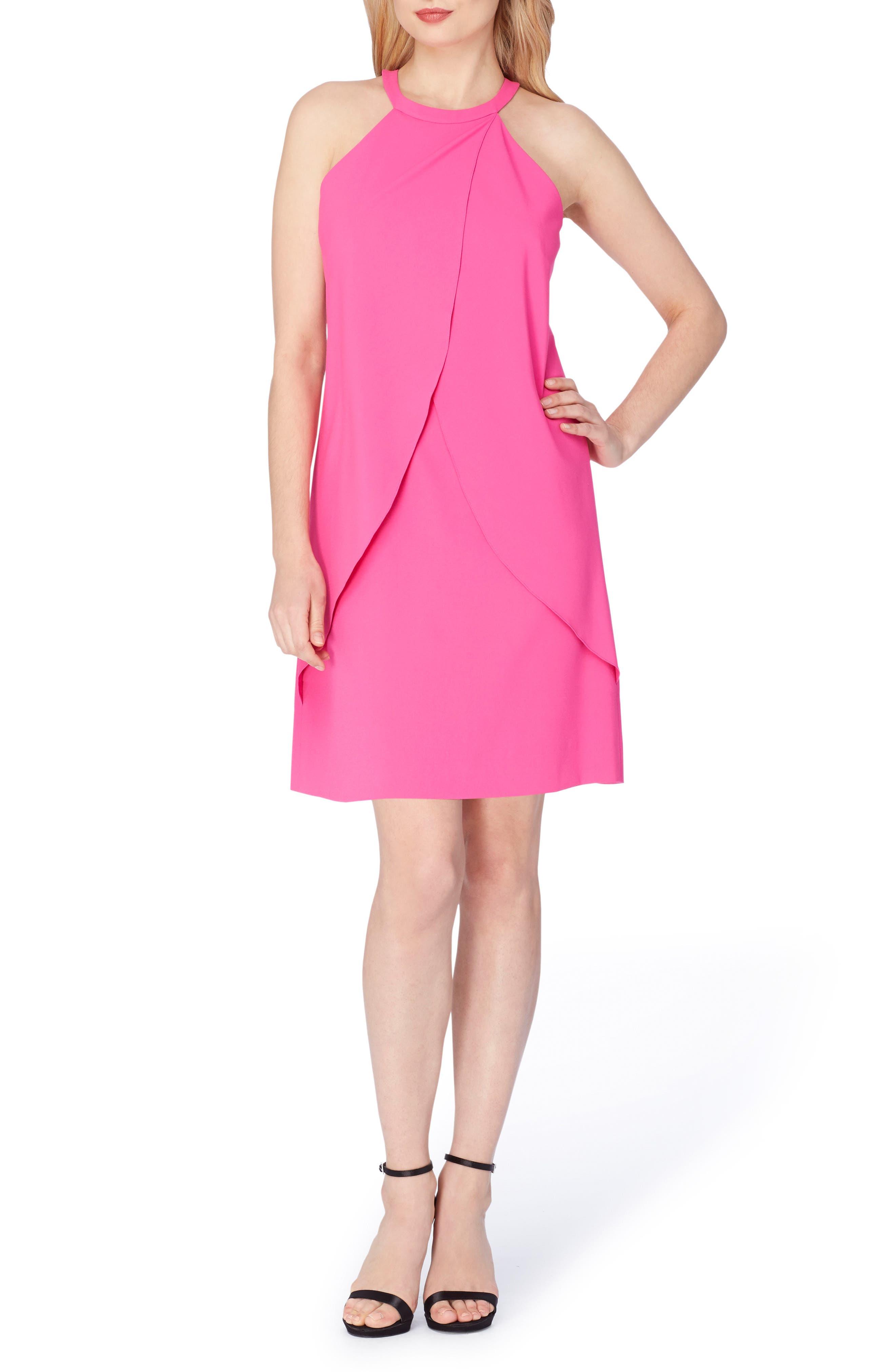 Tahari Asymmetrical Shift Dress (Regular & Petite)