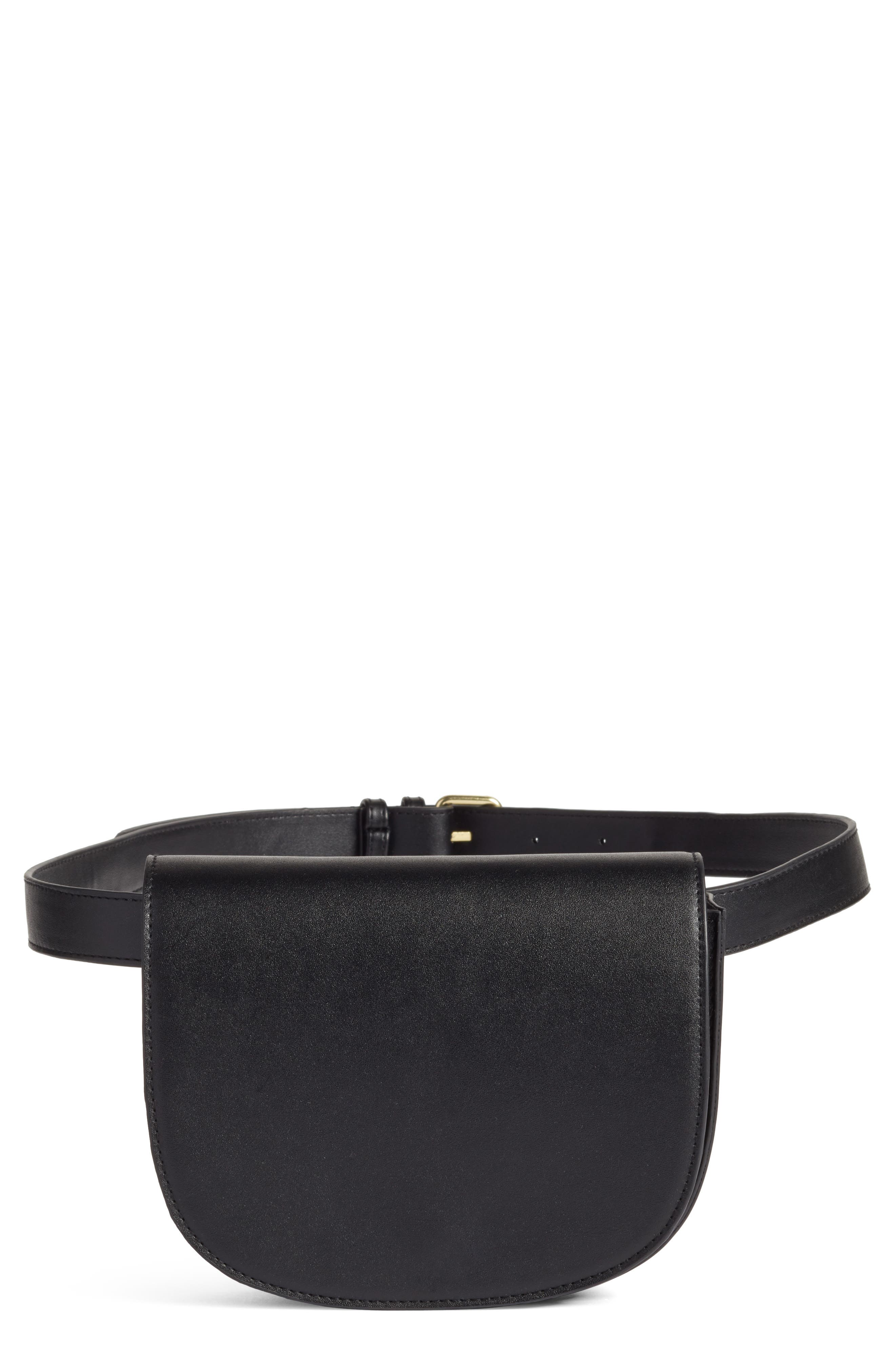 BP. Faux Leather Saddle Belt Bag