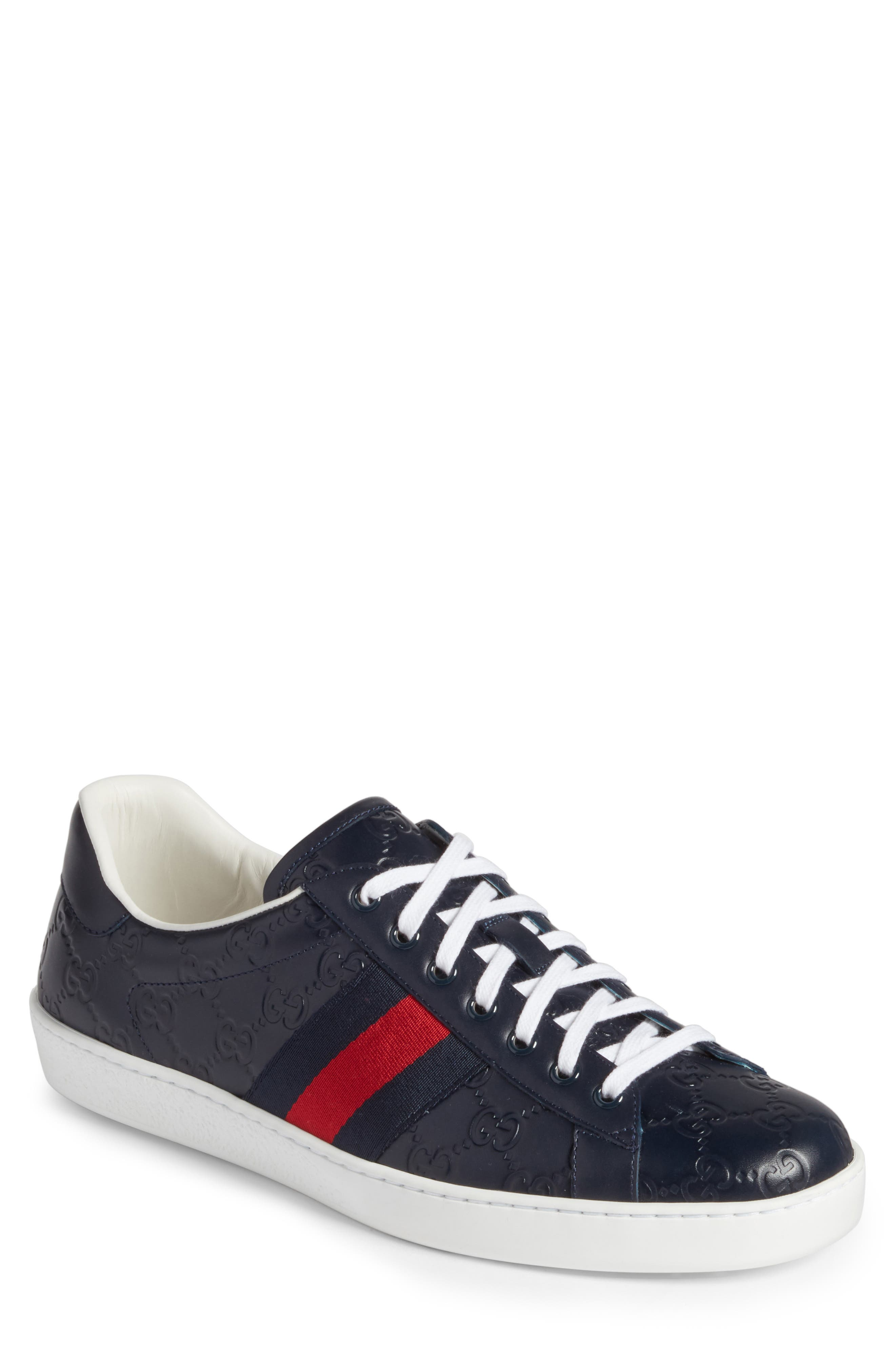 Alternate Image 1 Selected - Gucci 'New Ace' Sneaker (Men)