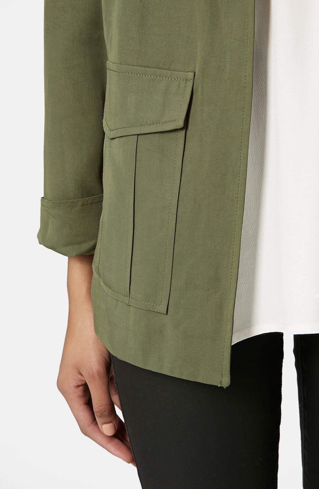 Alternate Image 4  - Topshop Belted Utility Jacket