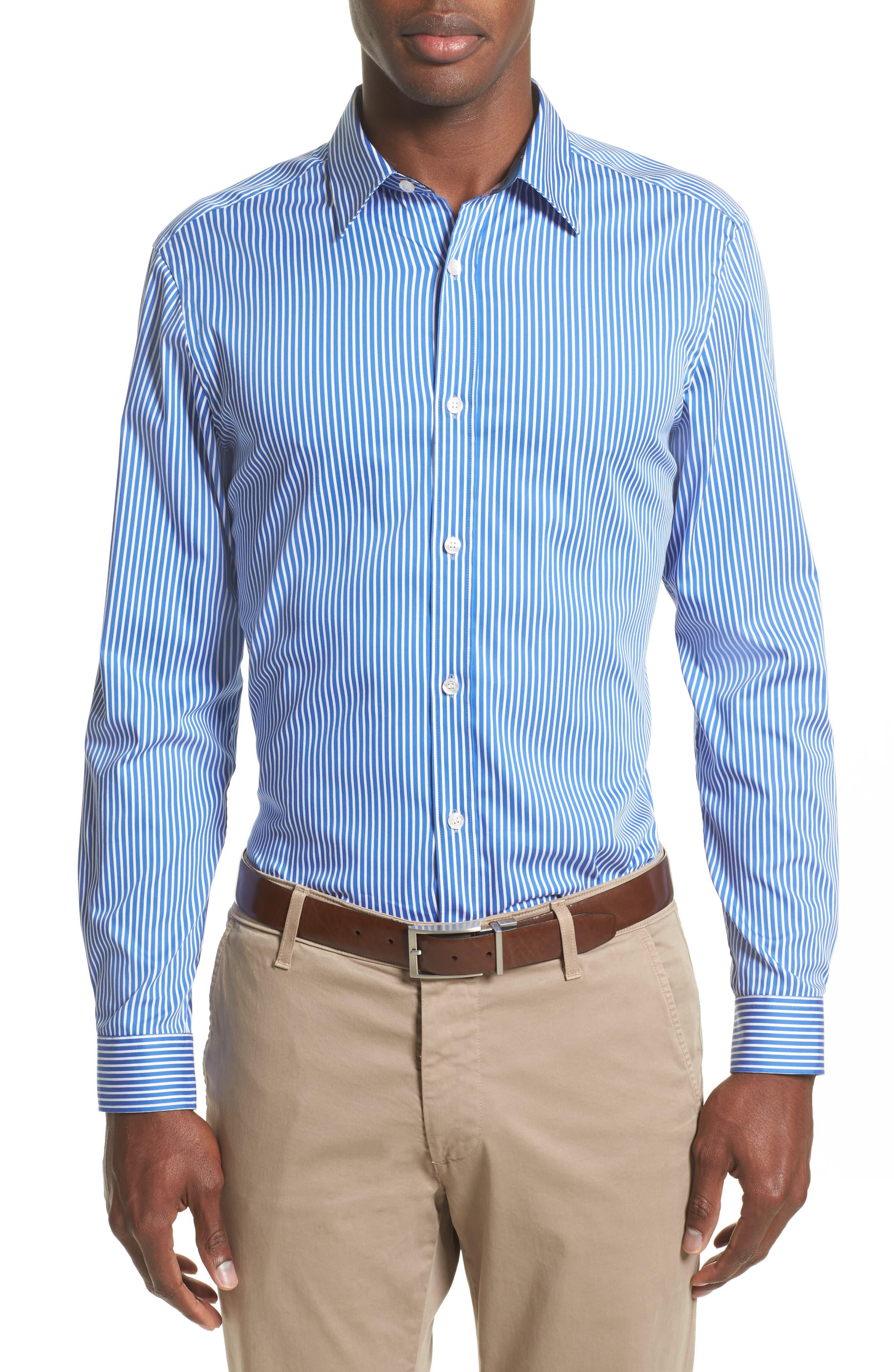 Burberry Nordwick Stripe Sport Shirt