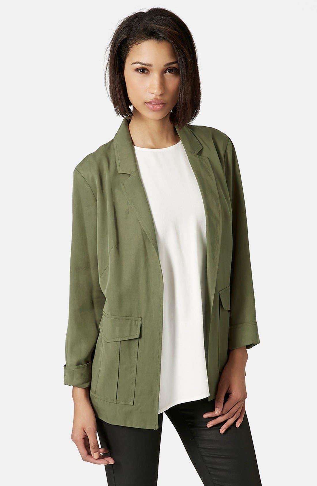 Alternate Image 1 Selected - Topshop Belted Utility Jacket