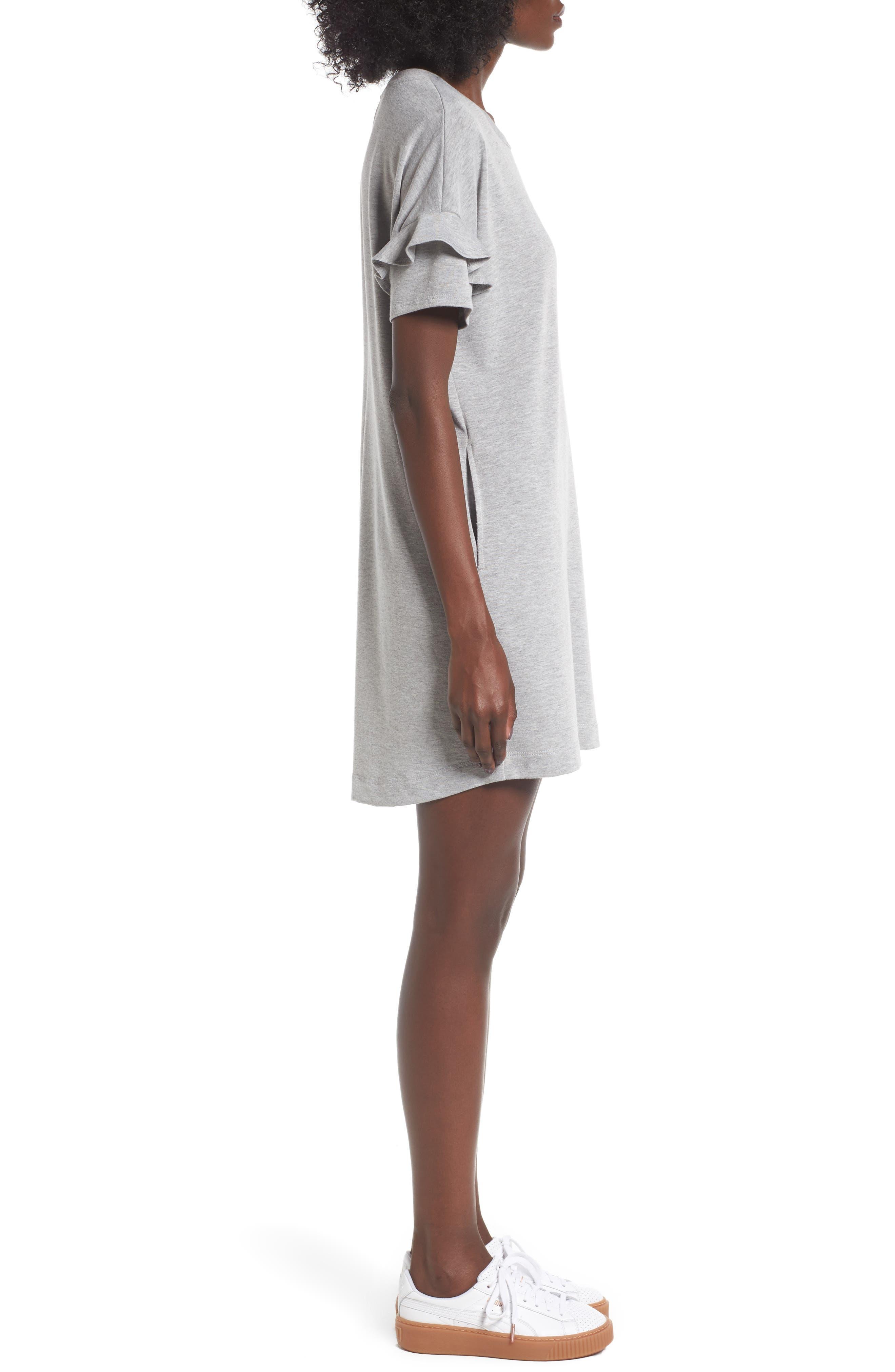 Alternate Image 3  - Lush Ruffle Sleeve T-Shirt Dress