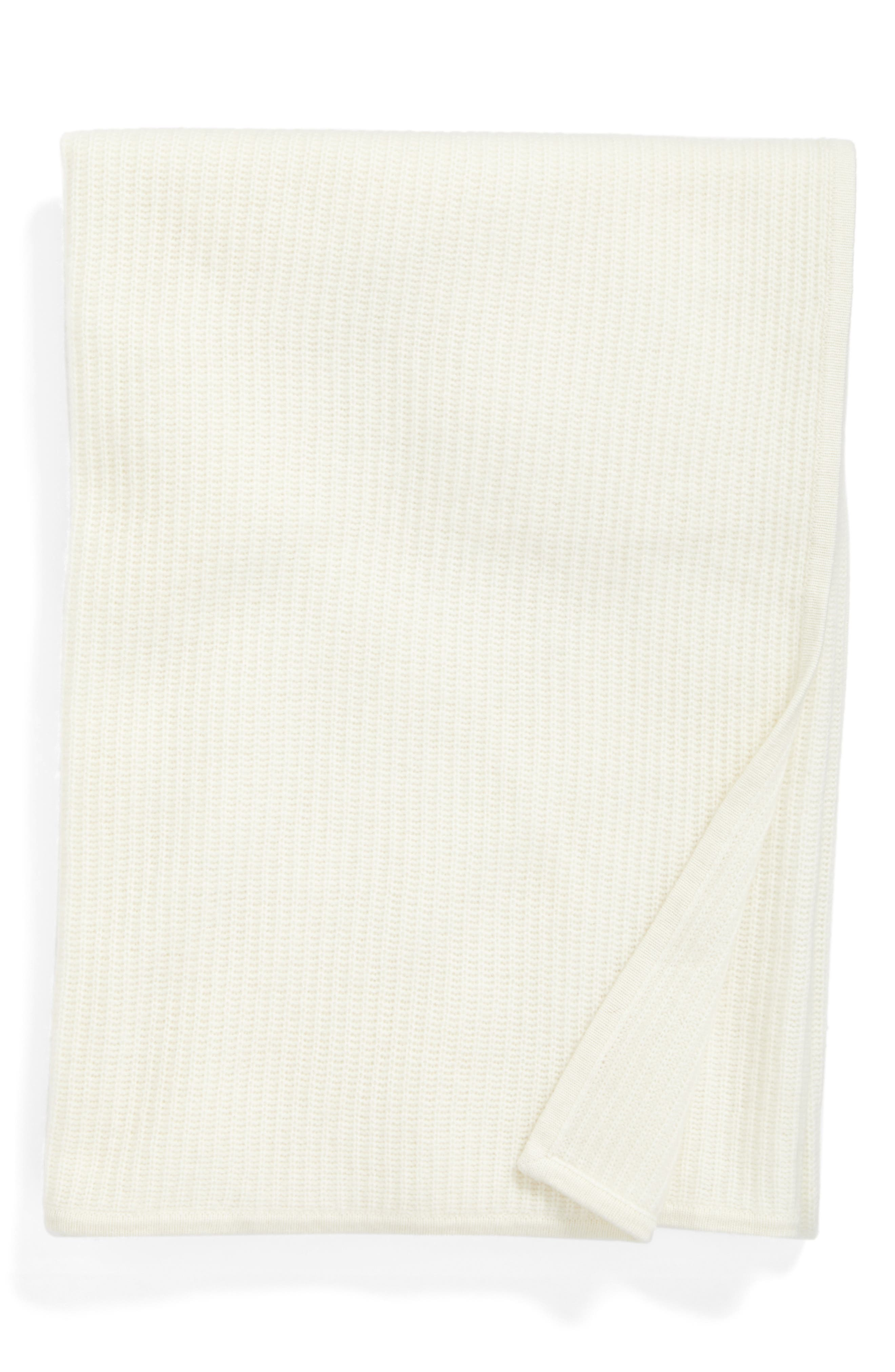Nordstrom at Home Lattice Cashmere Throw Blanket