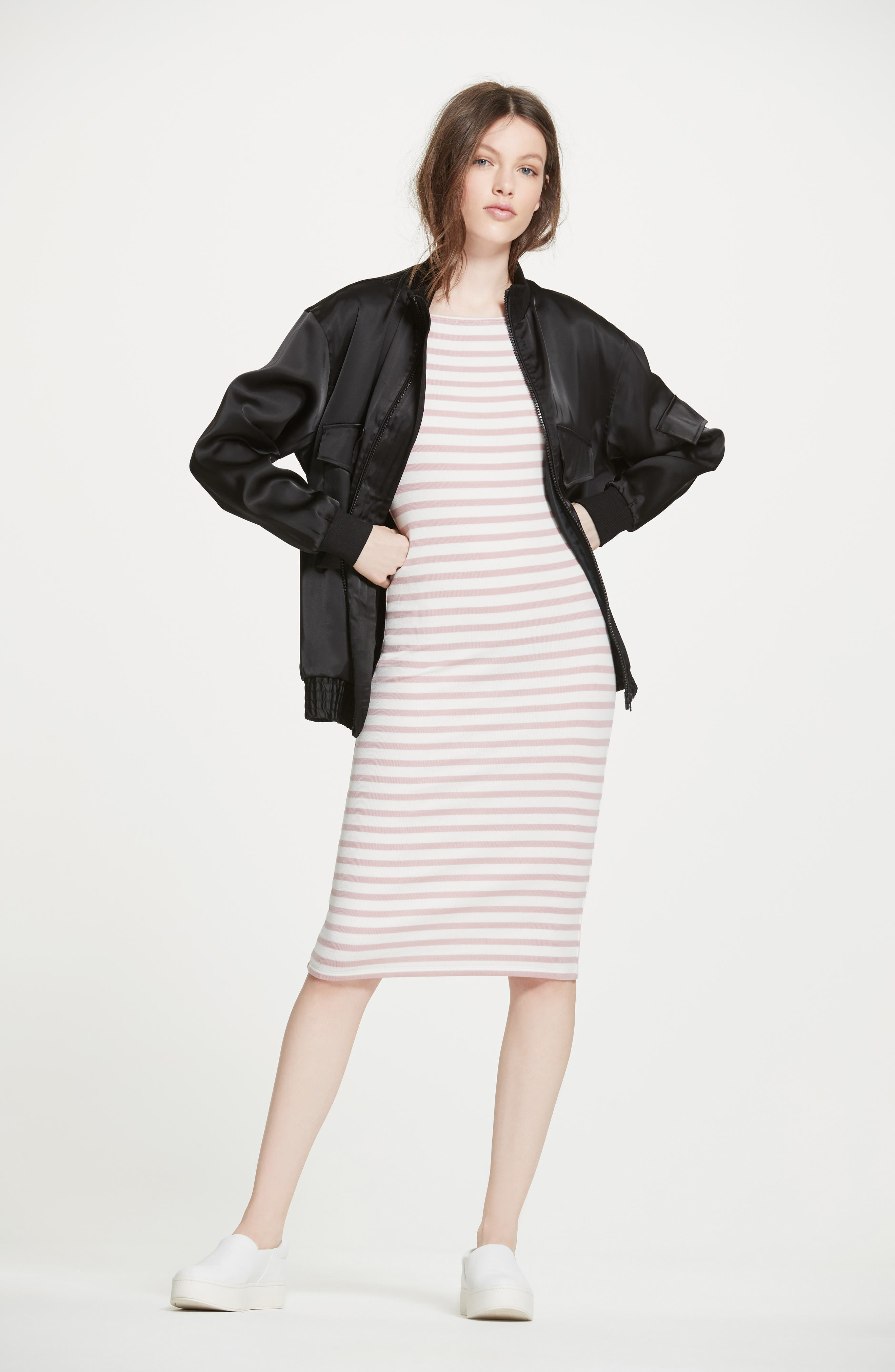 ATM Anthony Thomas Melillo Jacket & Dress Outfit with Accessories