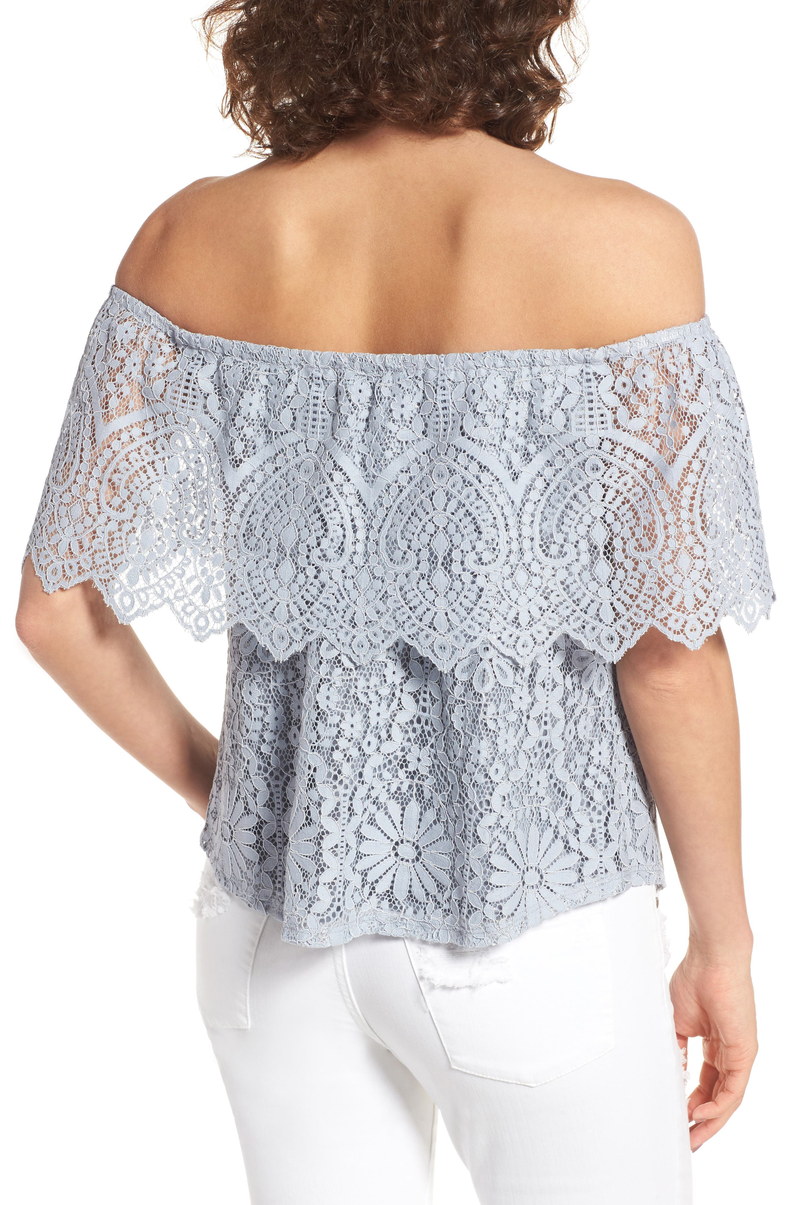 Alternate Image 2  - BP. Lace Off the Shoulder Top