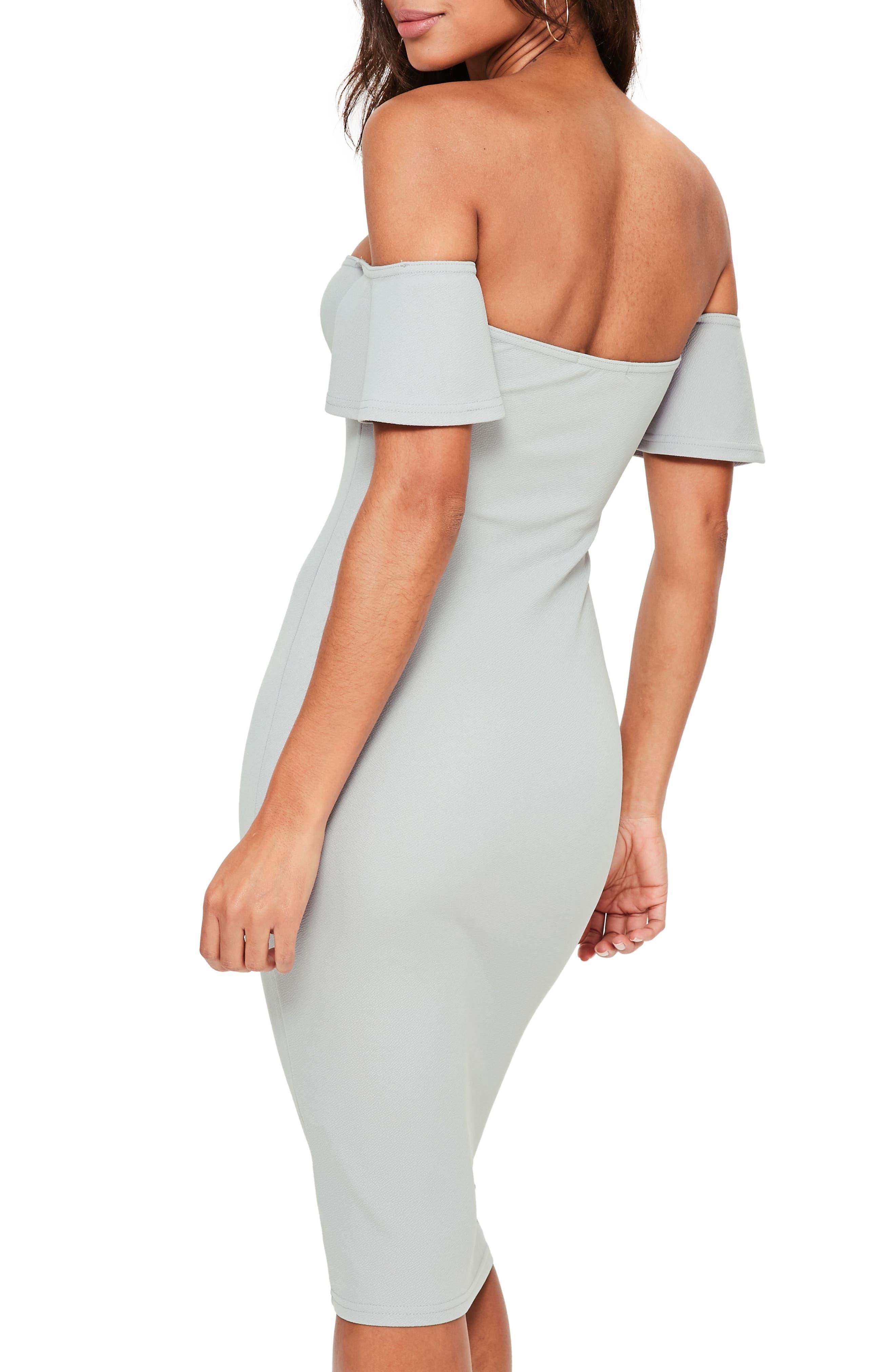 Alternate Image 2  - Missguided Bardot Stretch Crepe Off the Shoulder Dress