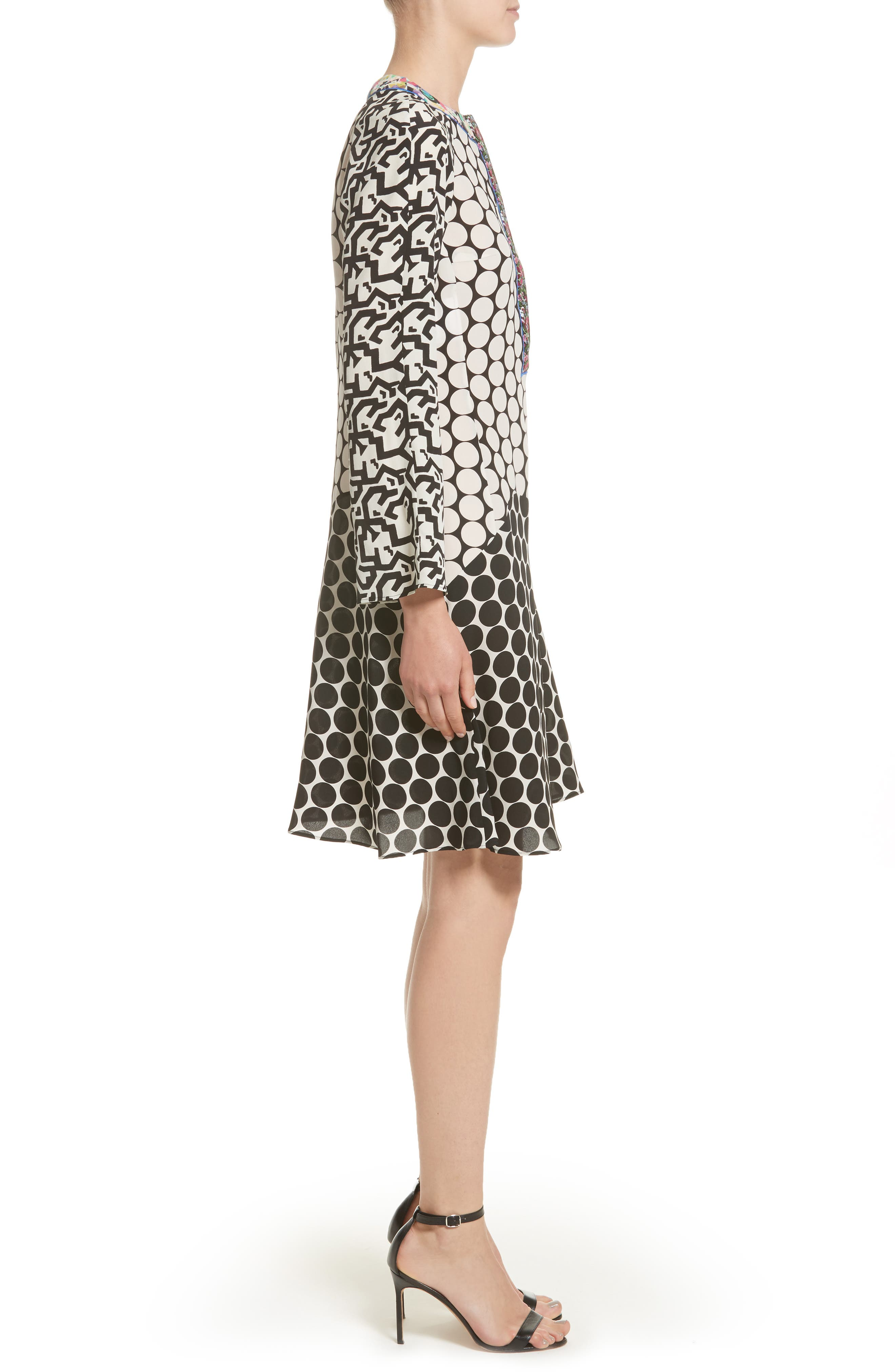 Alternate Image 5  - Etro Polka Dot Print Silk Crêpe de Chine Flutter Dress