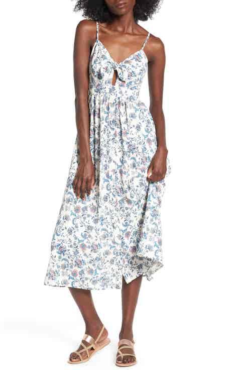Soprano Tie Front Midi Dress