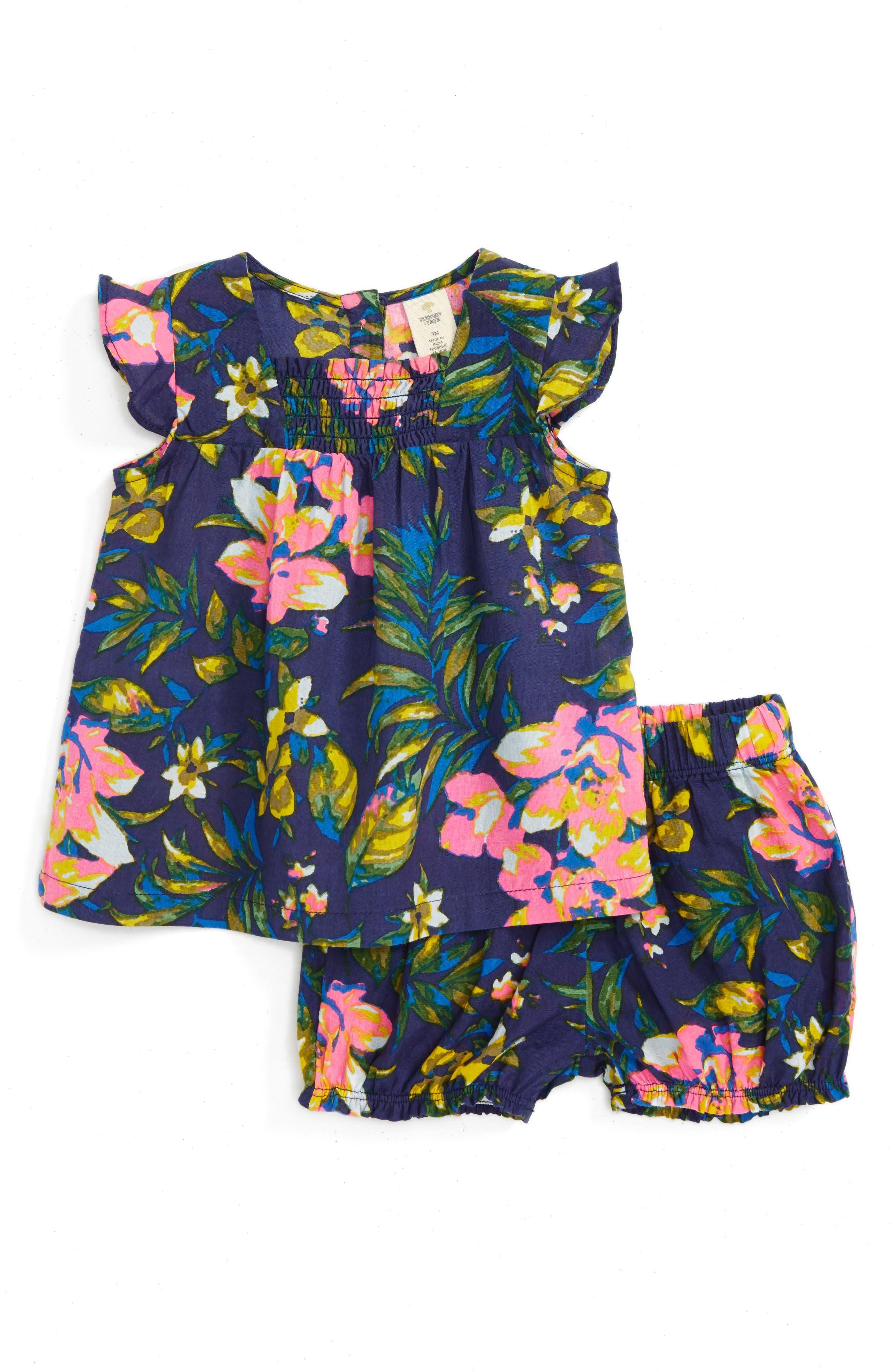 Tucker + Tate Smocked Top & Shorts Set (Baby Girls)