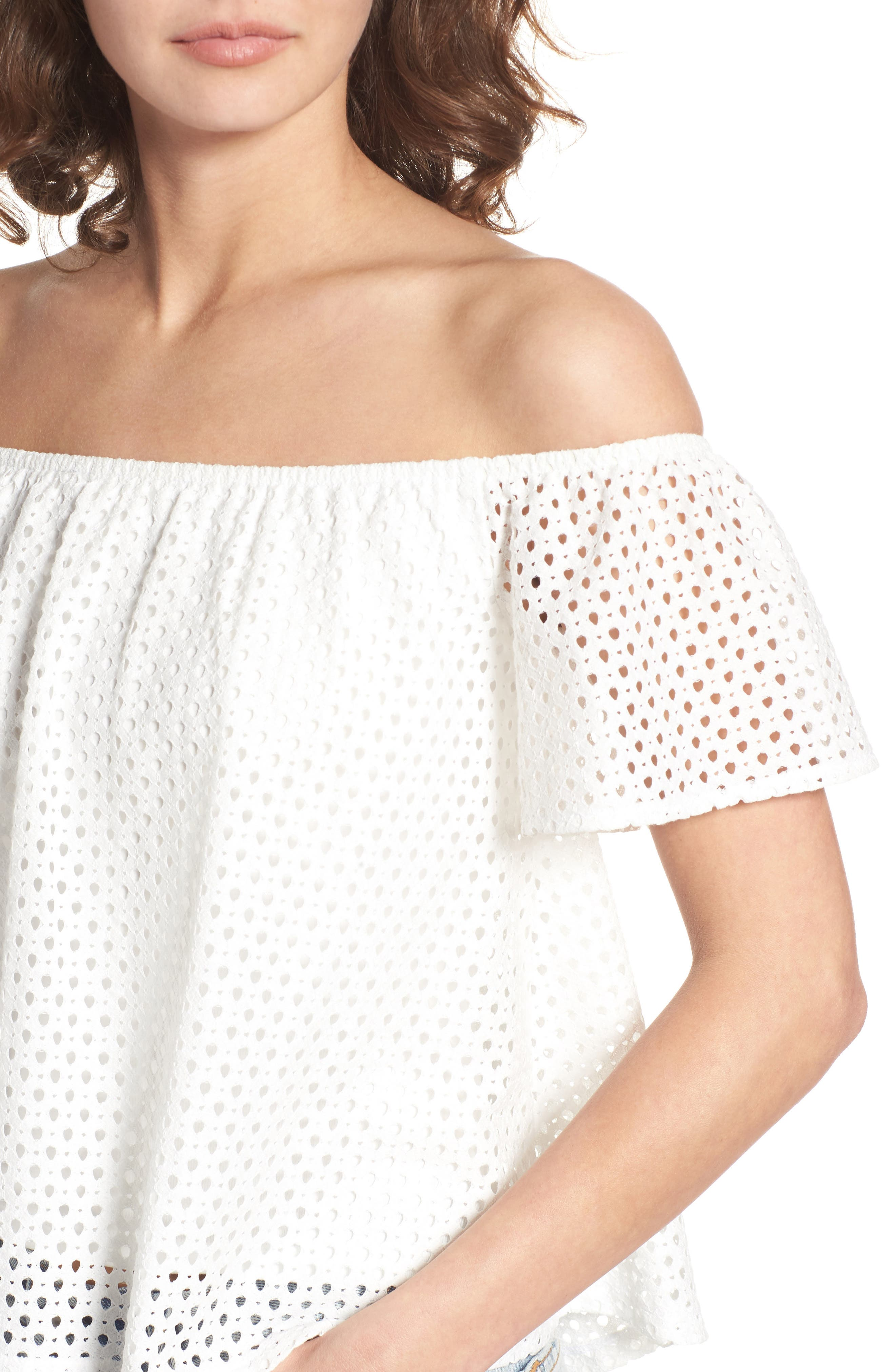 Alternate Image 5  - BP. Eyelet Off the Shoulder Top
