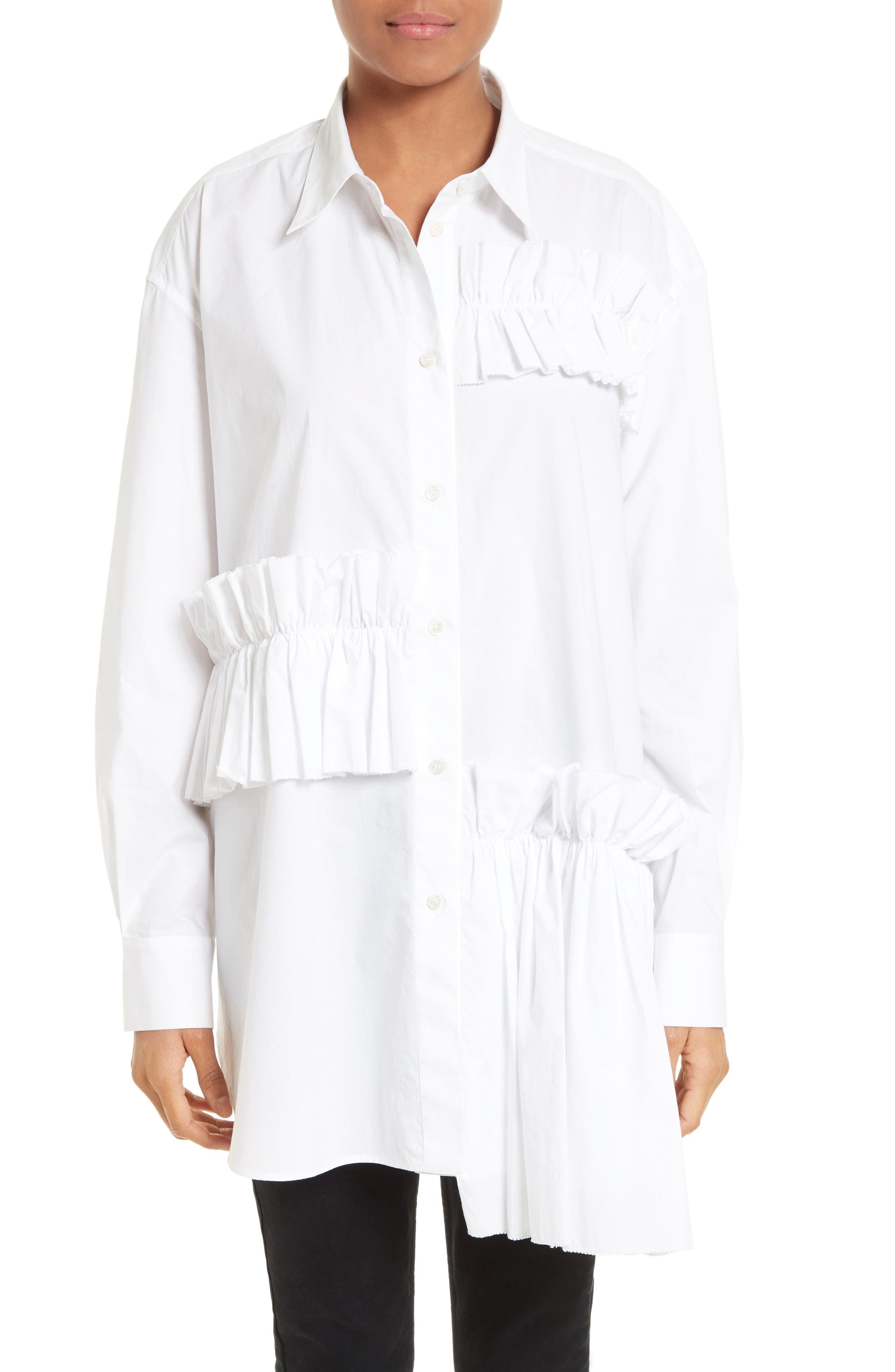 McQ Alexander McQueen Ruffle Tunic Shirt