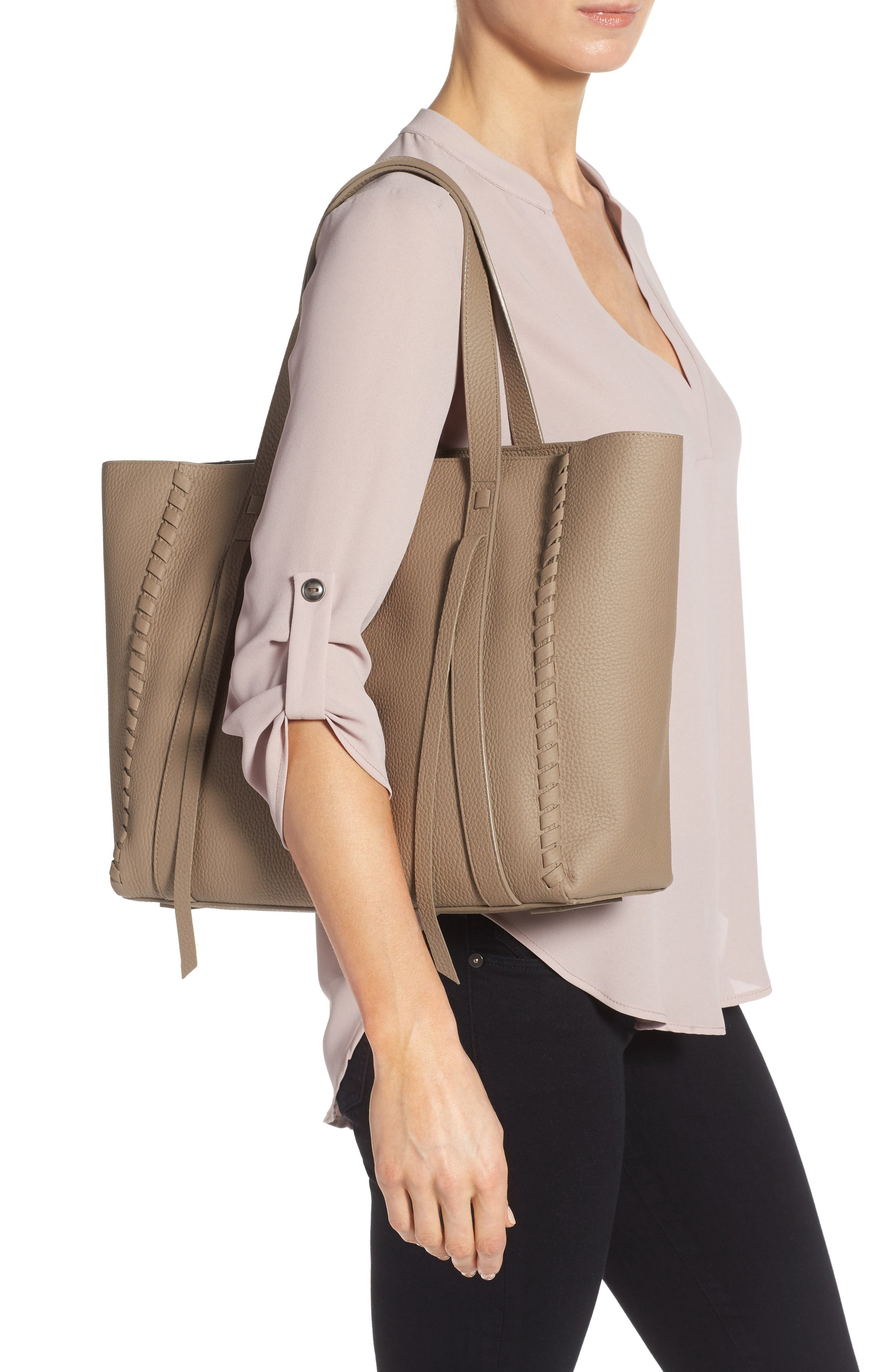 Alternate Image 2  - ALLSAINTS Raye Leather Tote (Nordstrom Exclusive)