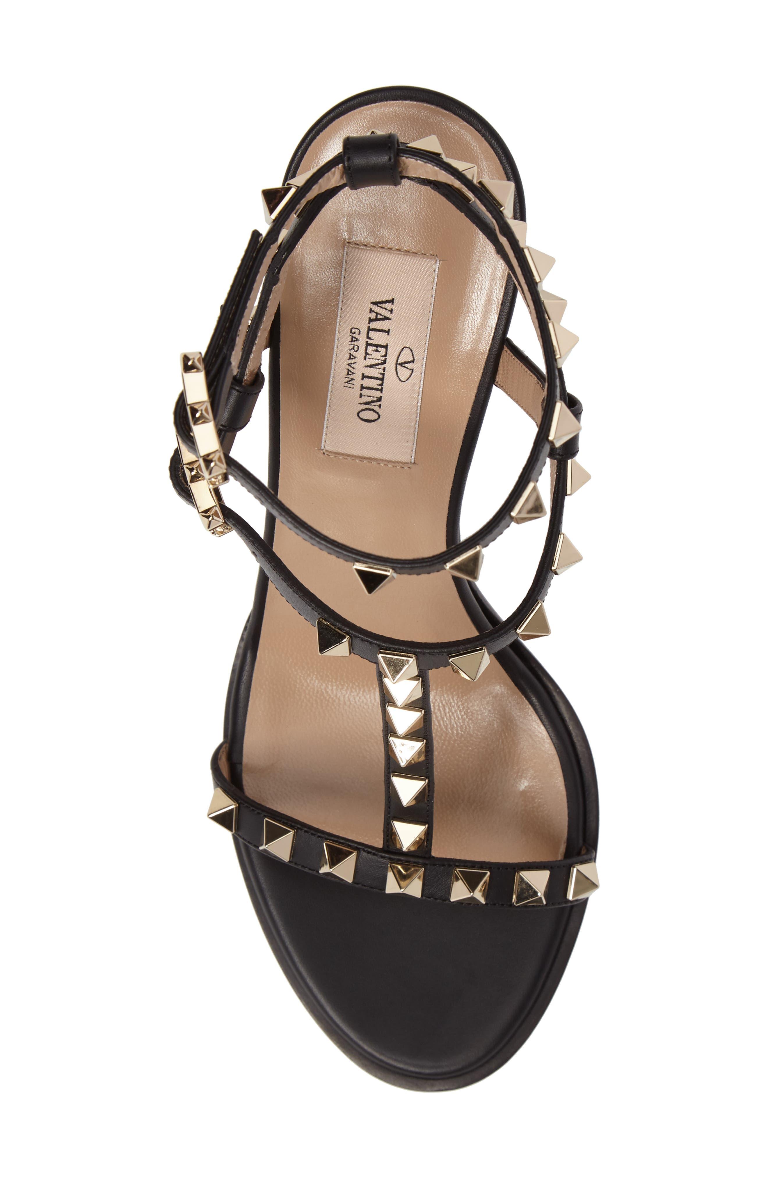 Alternate Image 5  - Valentino Rockstud Ankle Strap Sandal (Women)