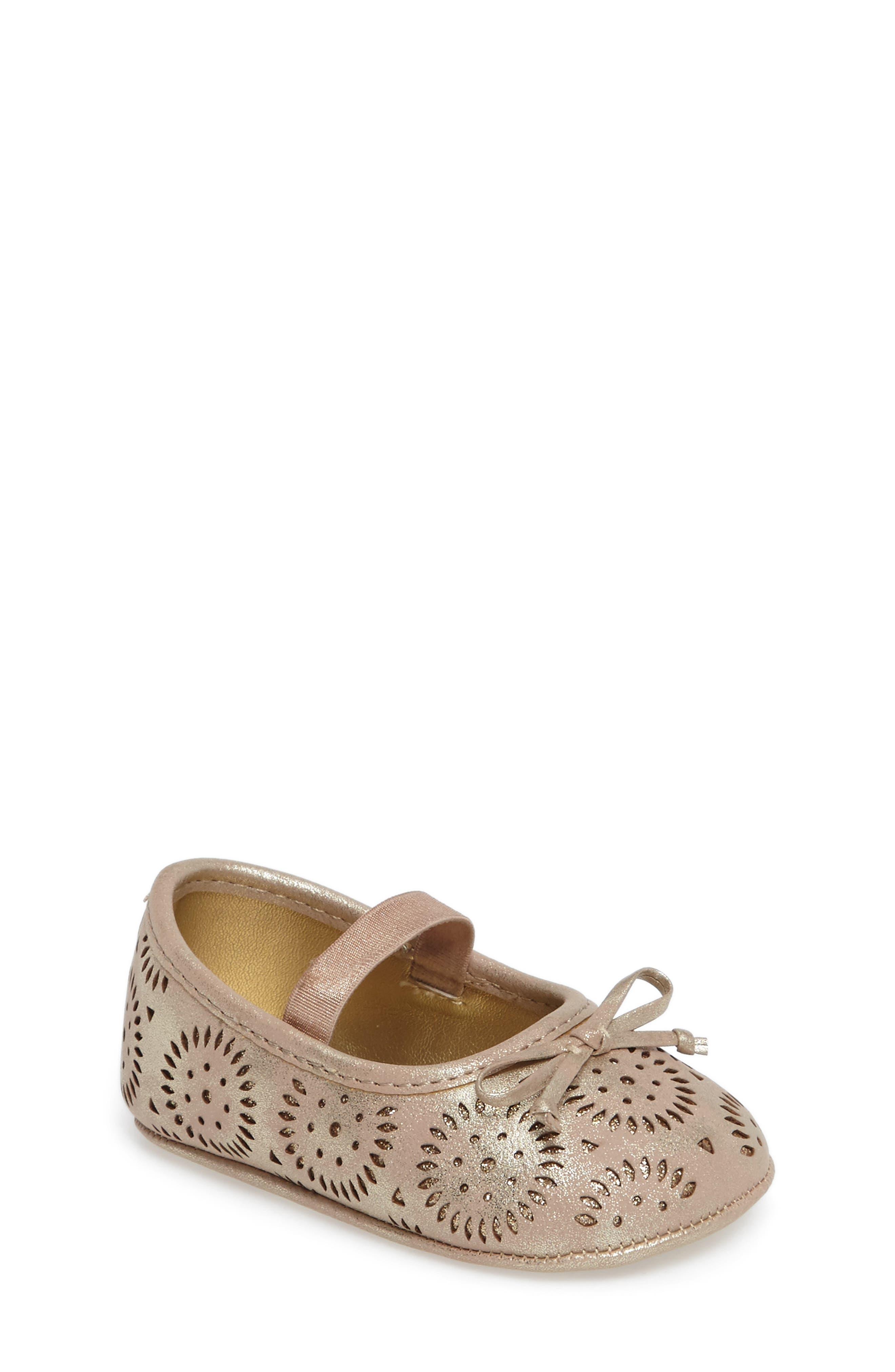 Jessica Simpson Salsa Mary Jane Crib Shoe (Baby)