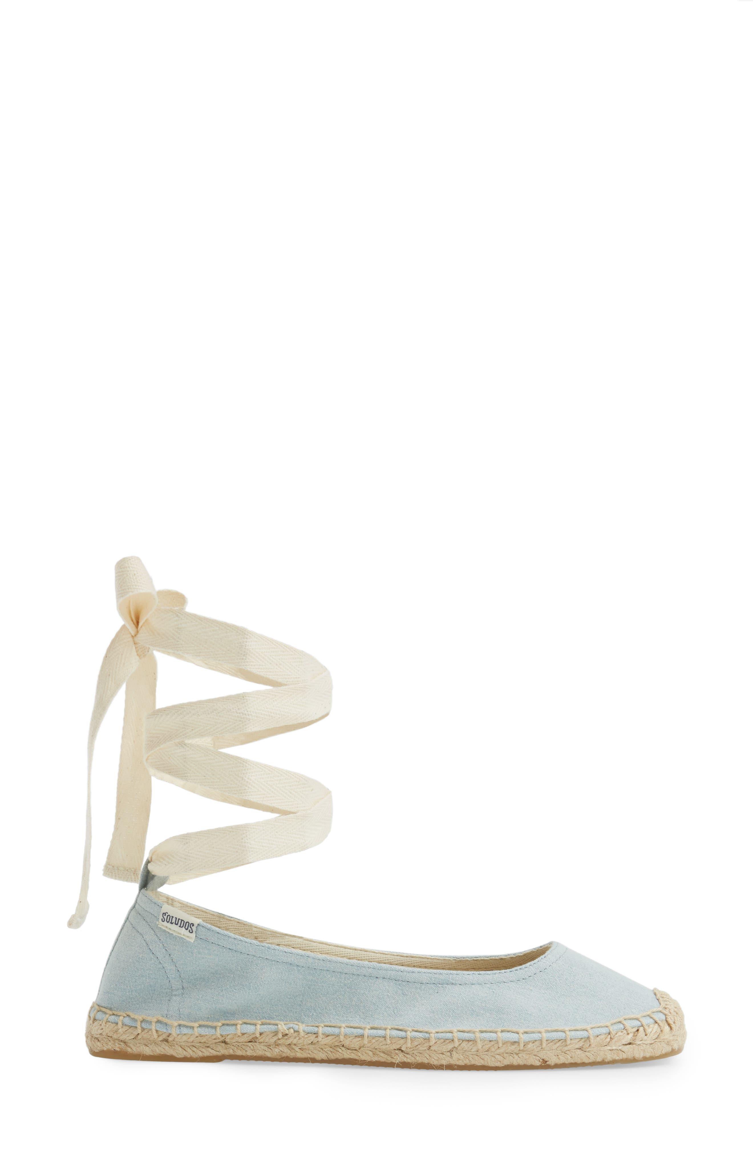 Alternate Image 3  - Soludos Ankle Tie Espadrille Flat (Women)