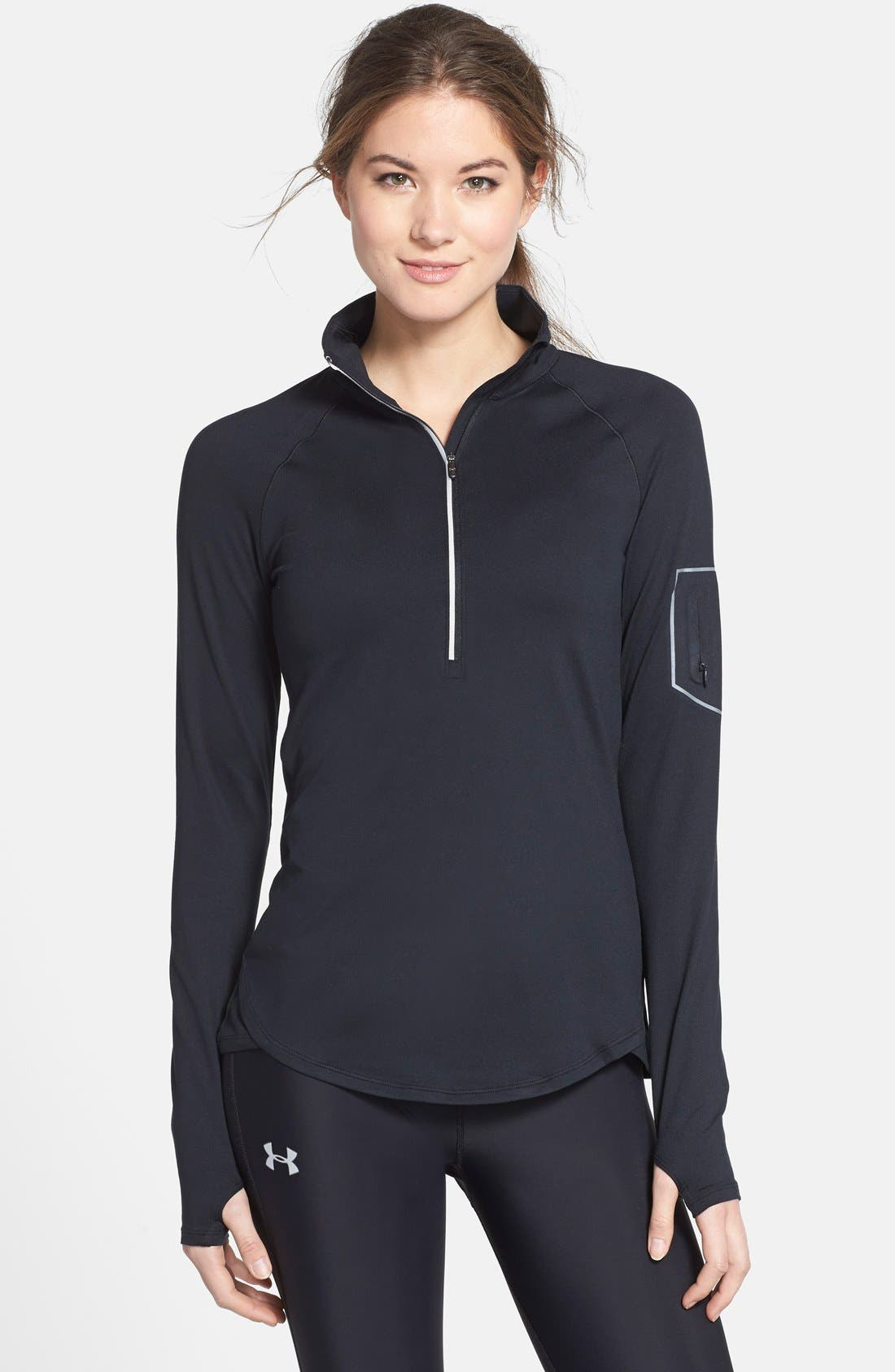 Alternate Image 1 Selected - Under Armour 'Fly Fast' Half Zip Long Sleeve Top