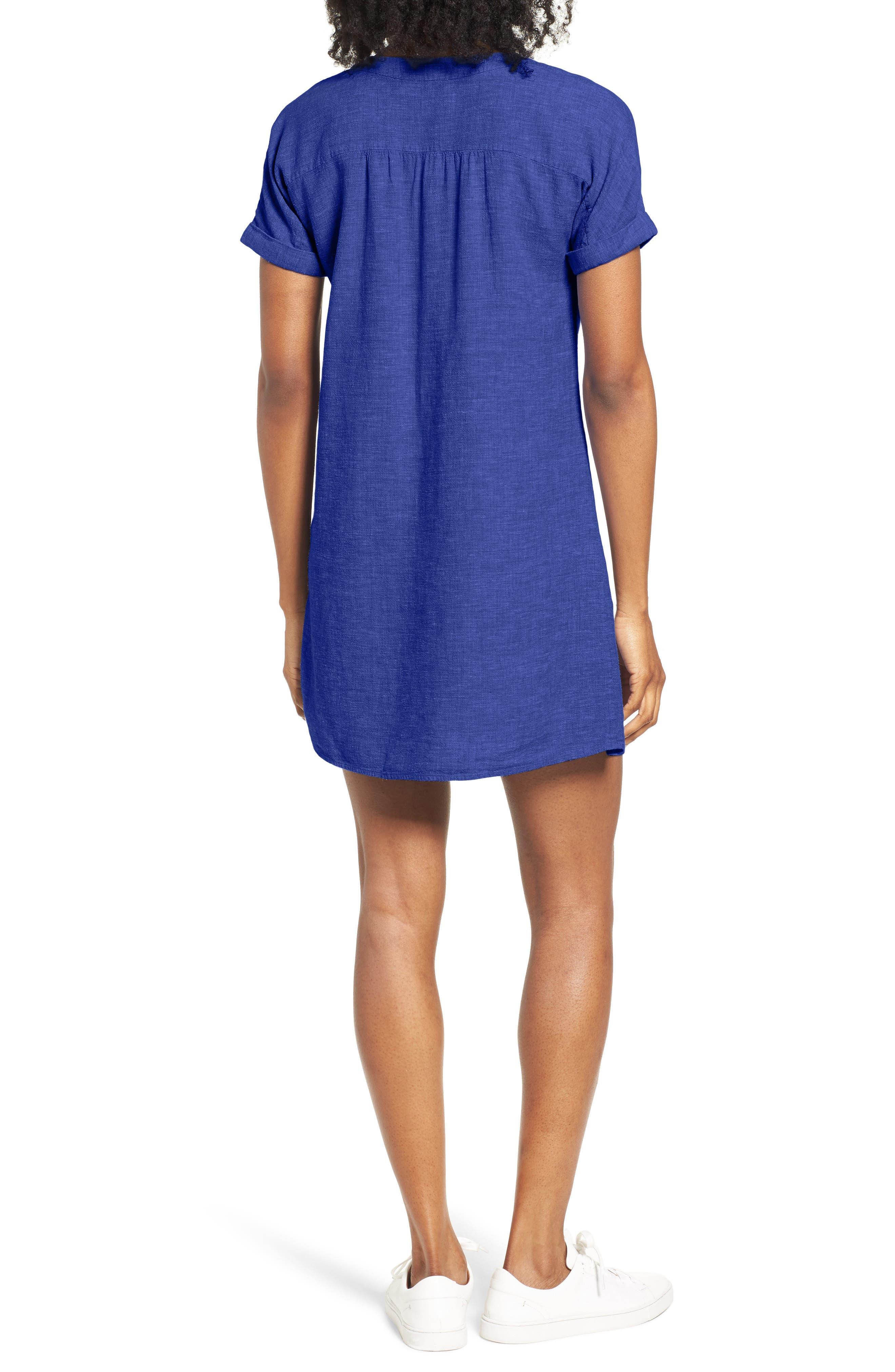 Alternate Image 2  - Vineyard Vines Linen Blend Shirtdress