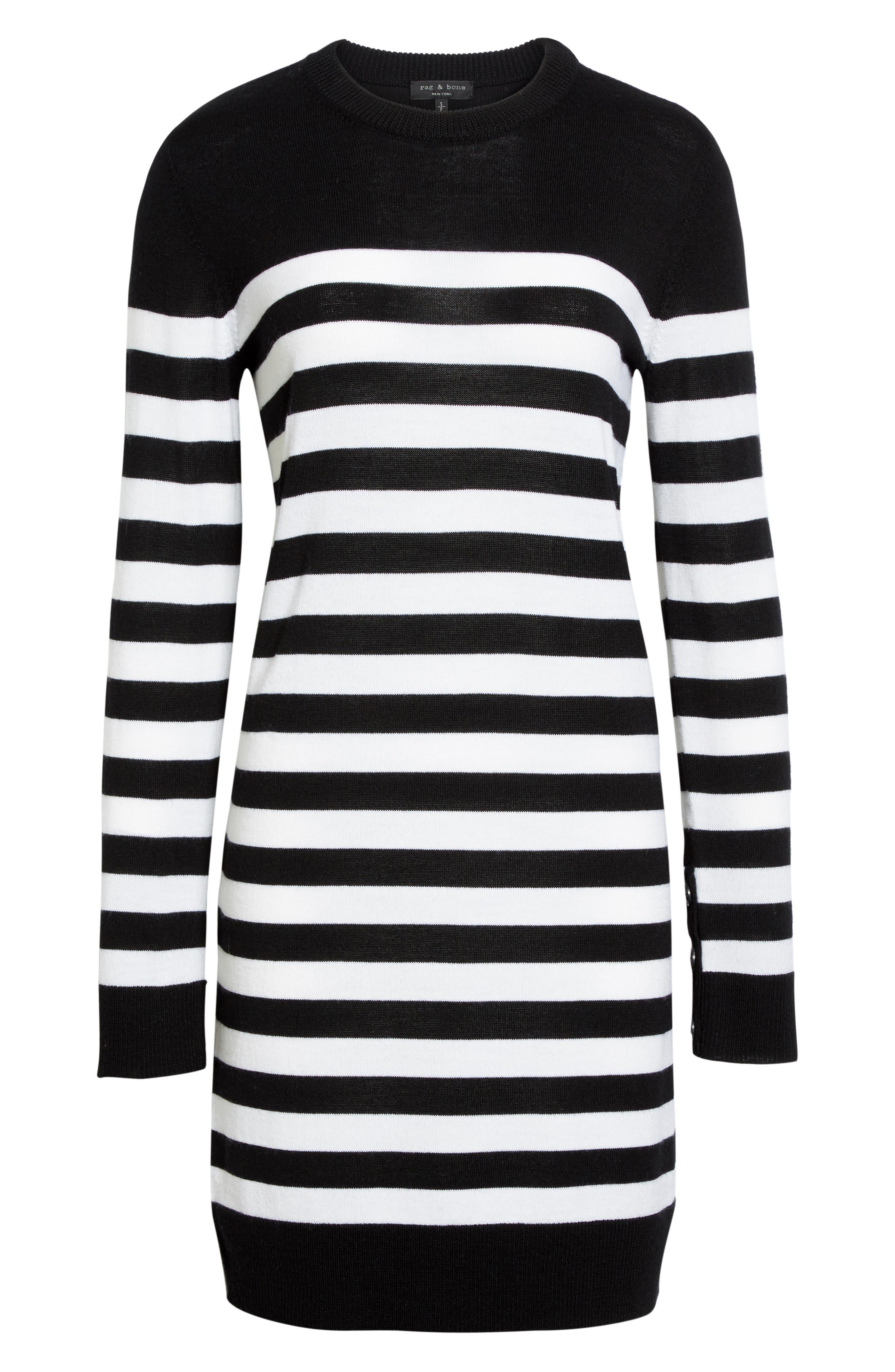Alternate Image 7  - rag & bone Lilian Stripe Merino Wool Dress (Nordstrom Exclusive)