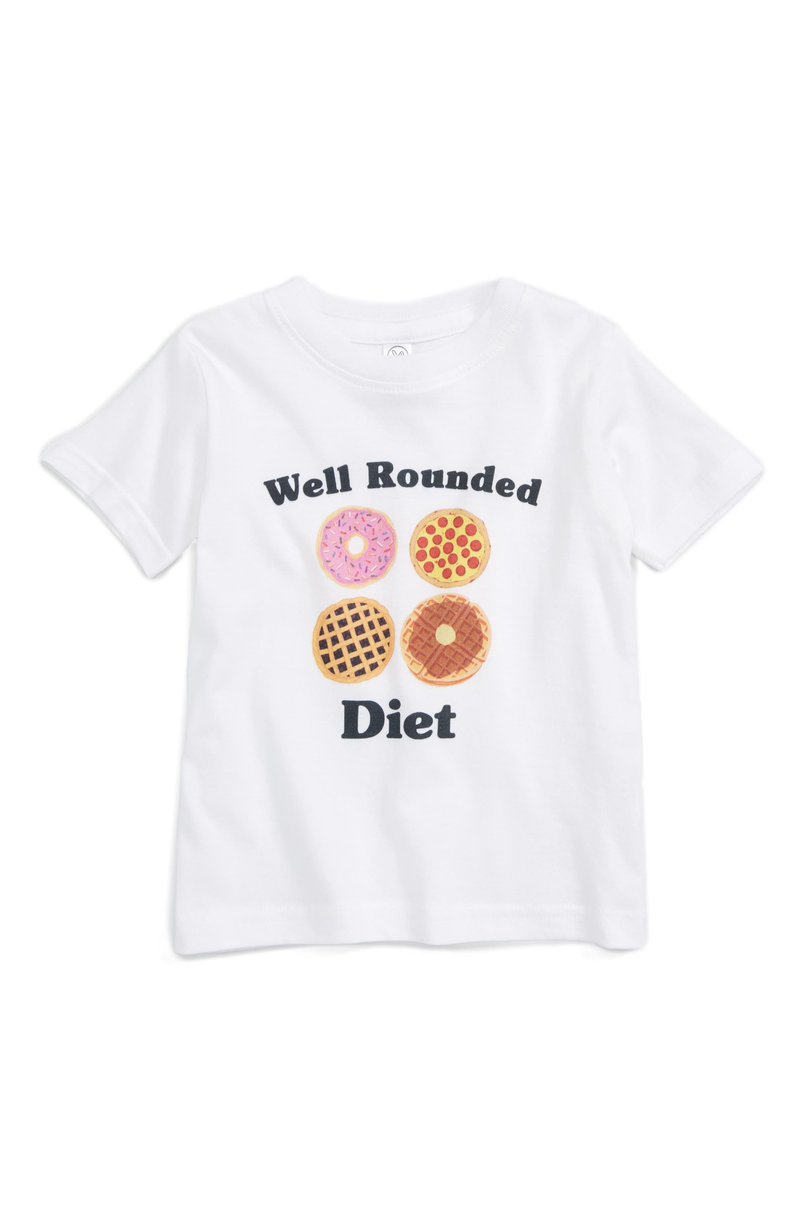 Alternate Image 1 Selected - Kid Dangerous Well Rounded Diet Tee (Baby)