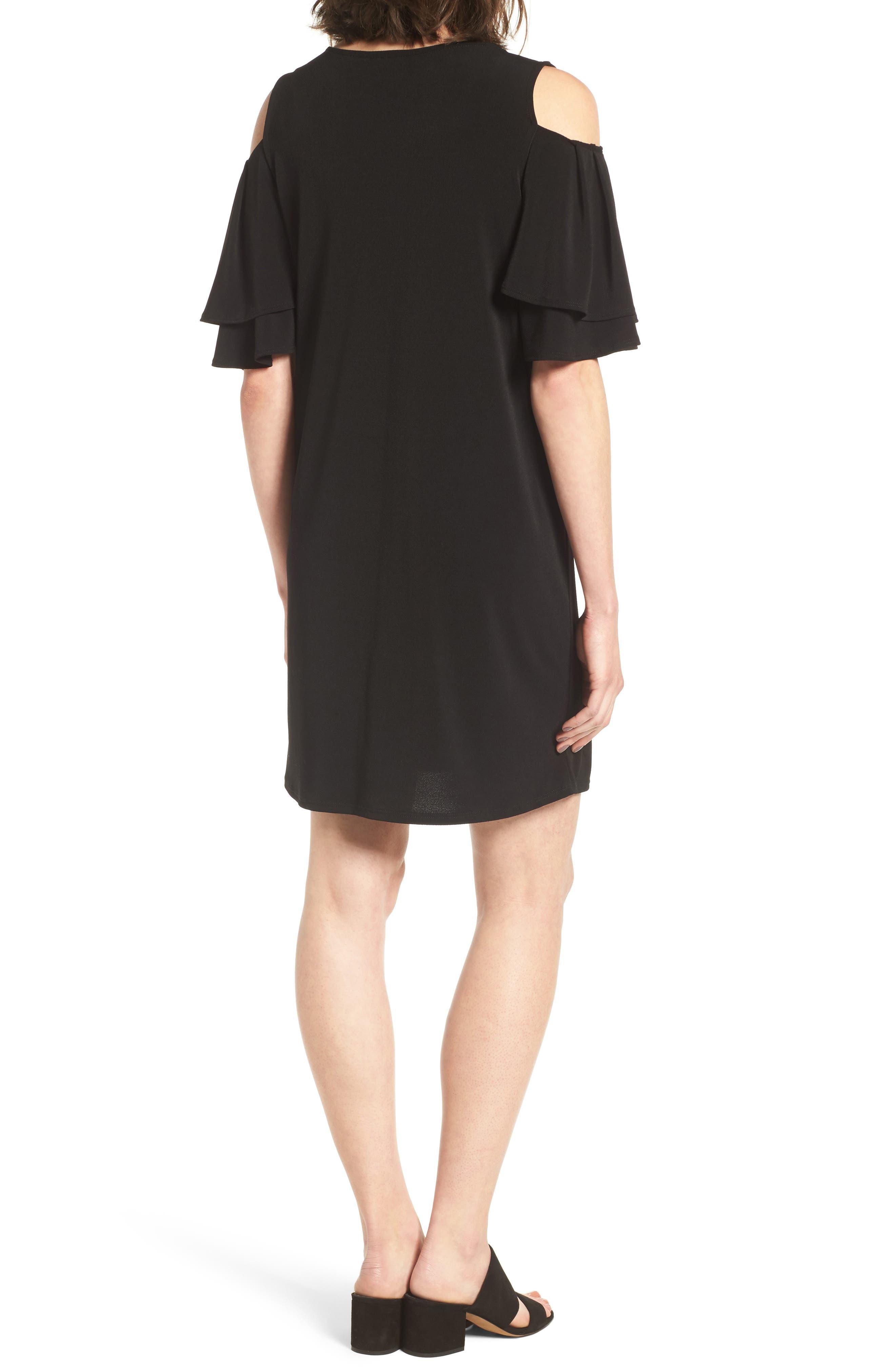 Alternate Image 2  - Halogen® Cold Shoulder Shift Dress