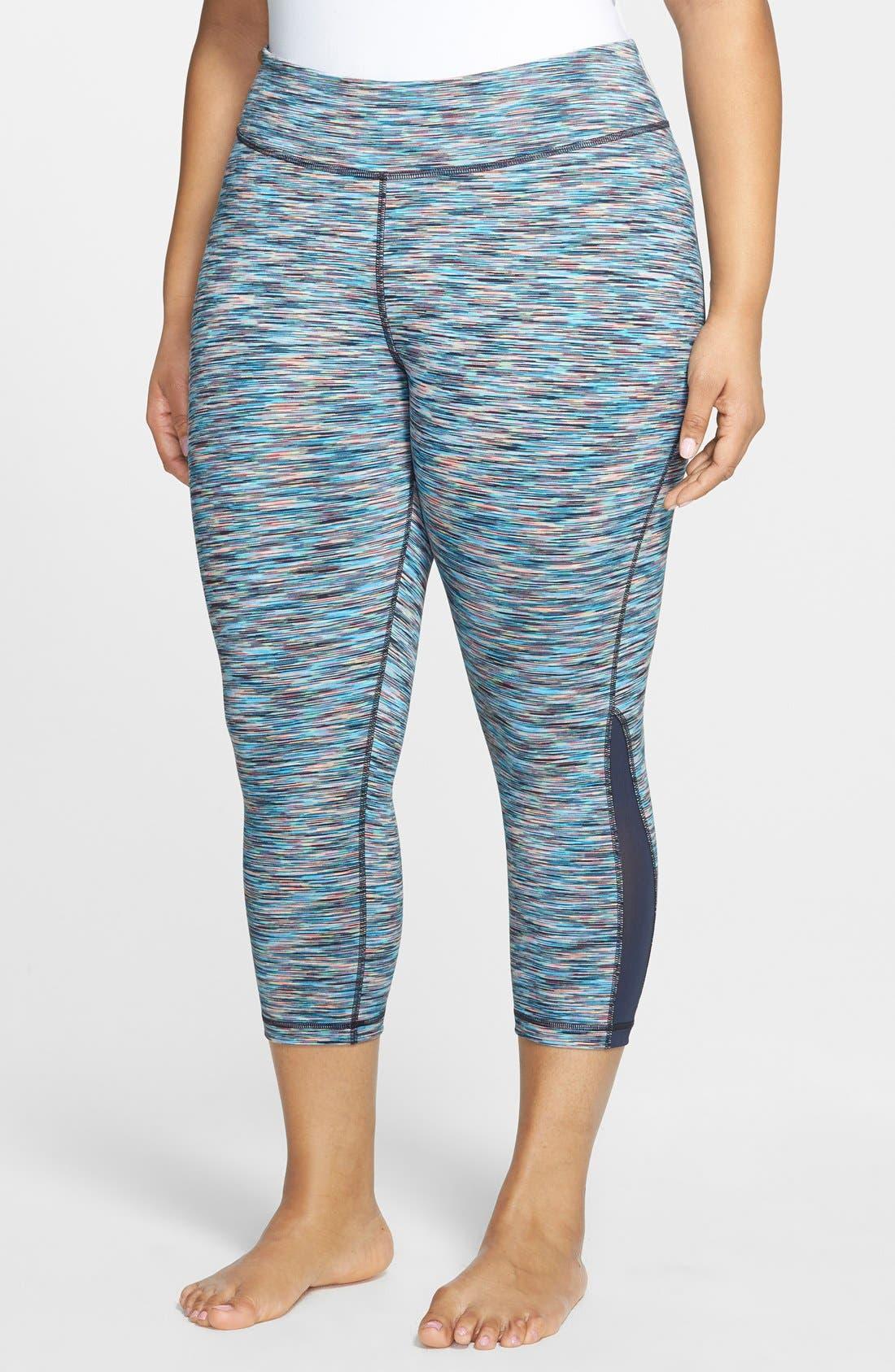 Alternate Image 1 Selected - Zella 'Streamline' Slim Fit Capri Leggings (Plus Size)