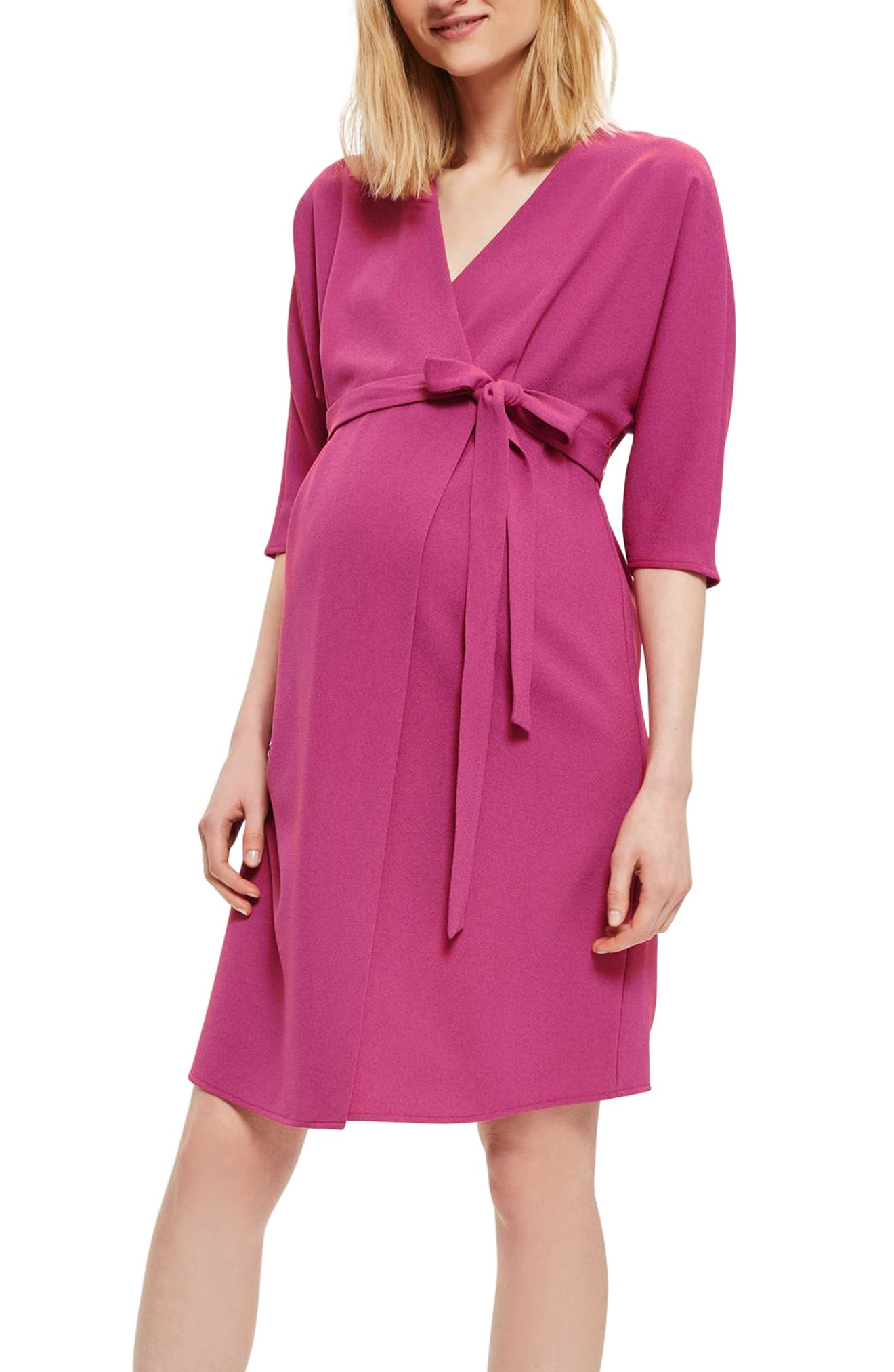TOPSHOP Dolman Wrap Maternity Dress