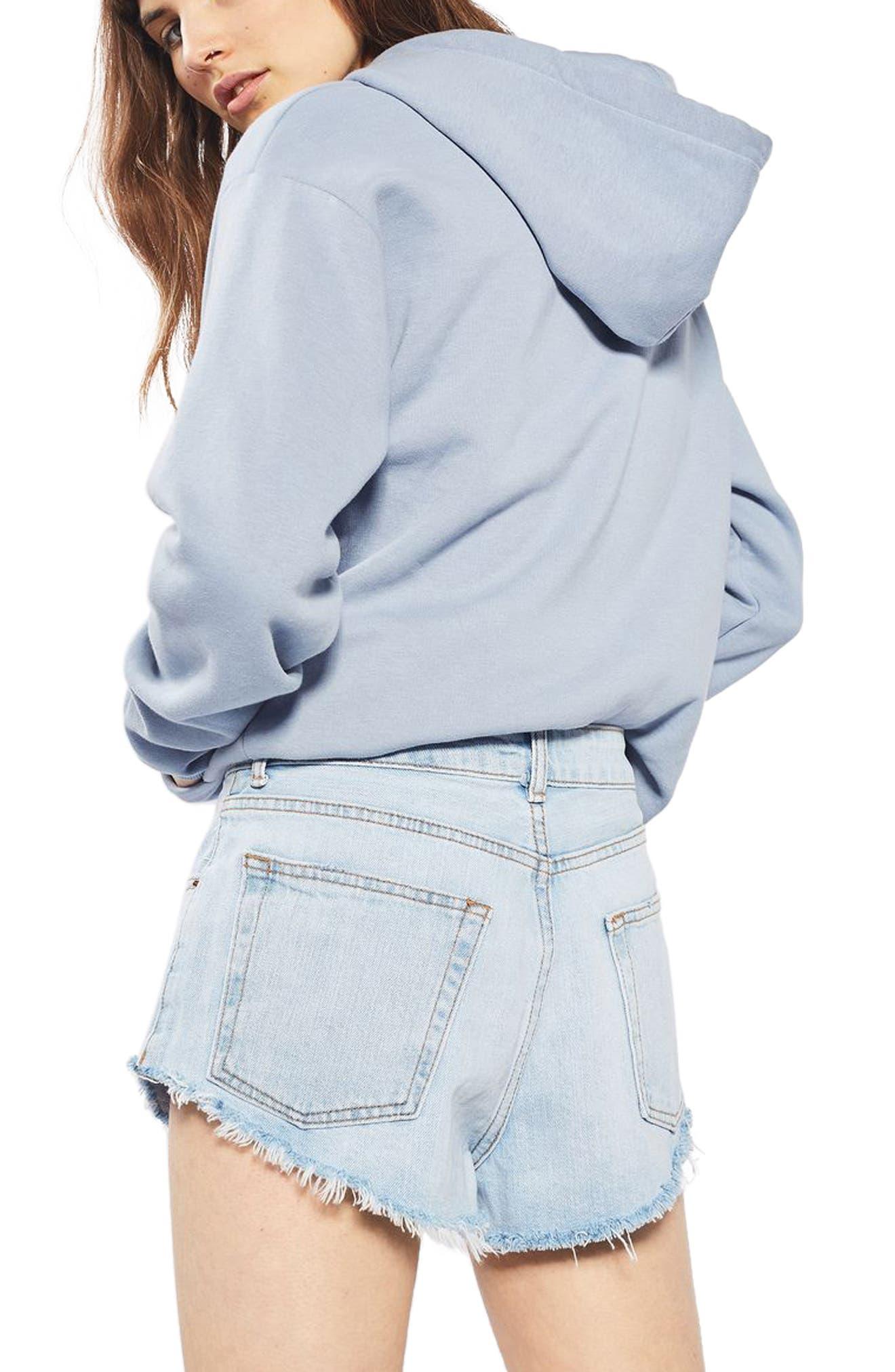 Alternate Image 3  - Topshop Kiri Cutoff Denim Shorts