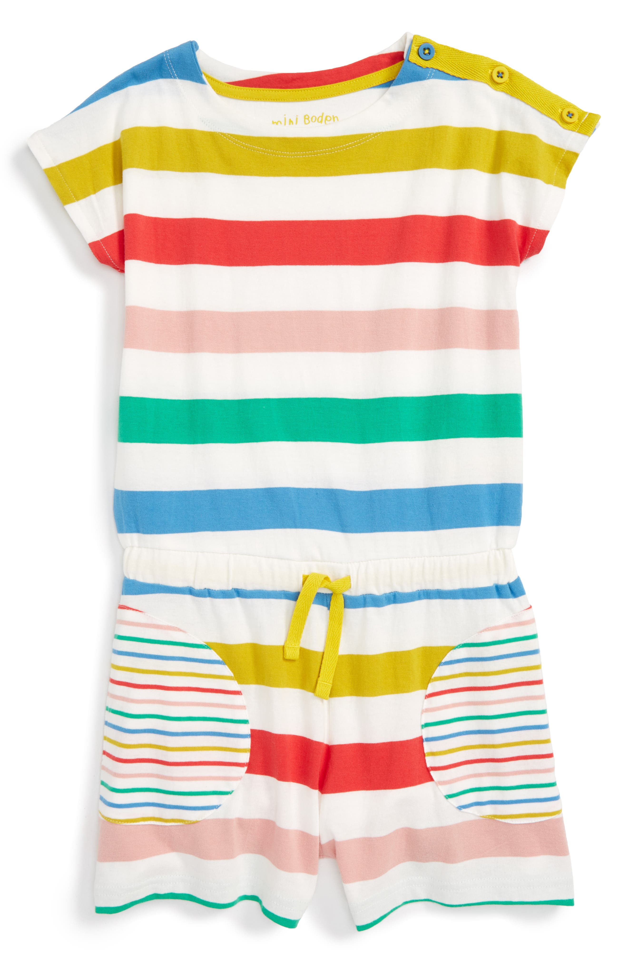 Mini Boden Cotton Romper (Toddler Girls, Little Girls & Big Girls)