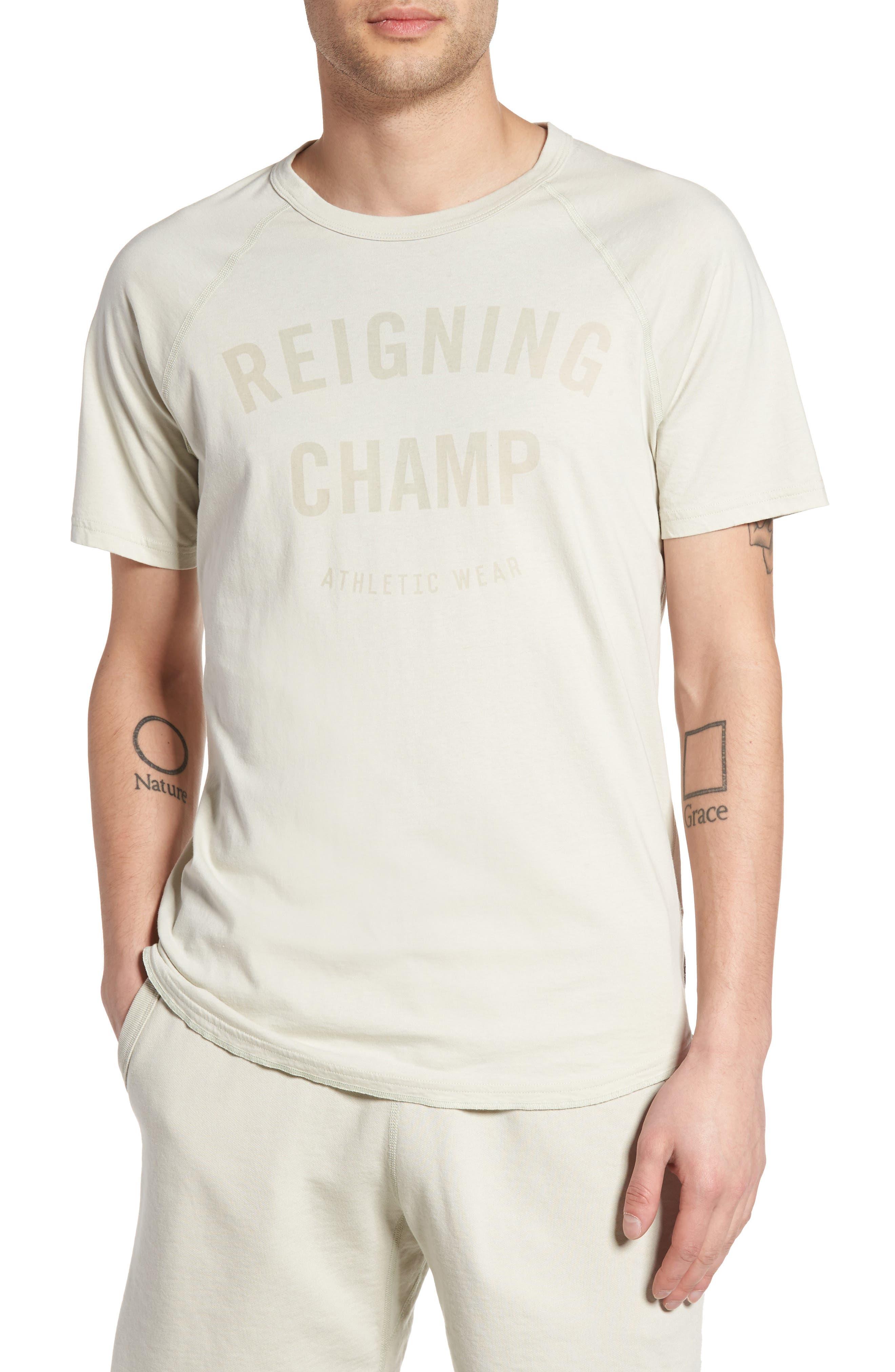 Reigning Champ Gym Logo Raglan T-Shirt