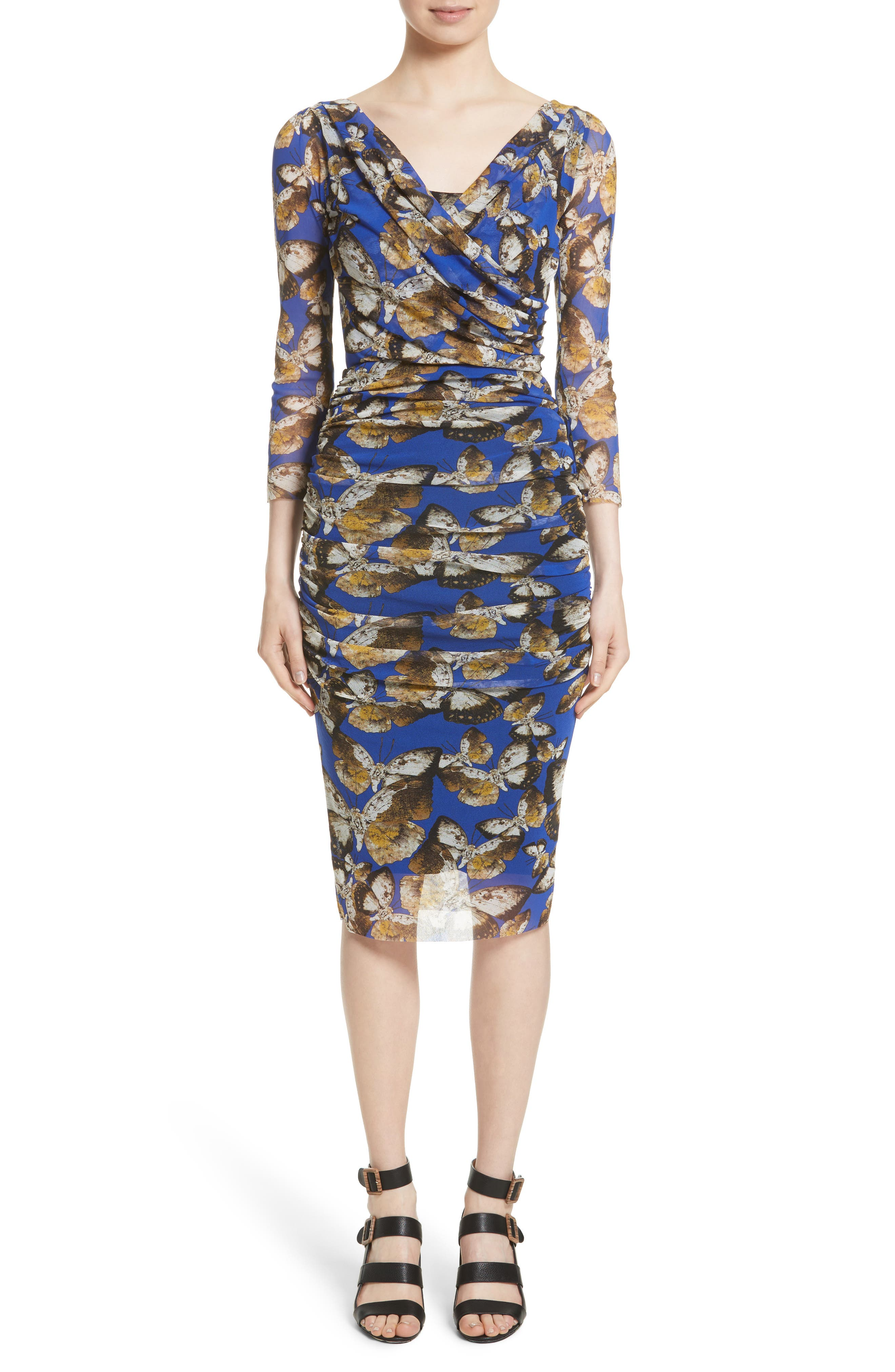 Fuzzi Ruched Tulle Sheath Dress (Nordstrom Exclusive)