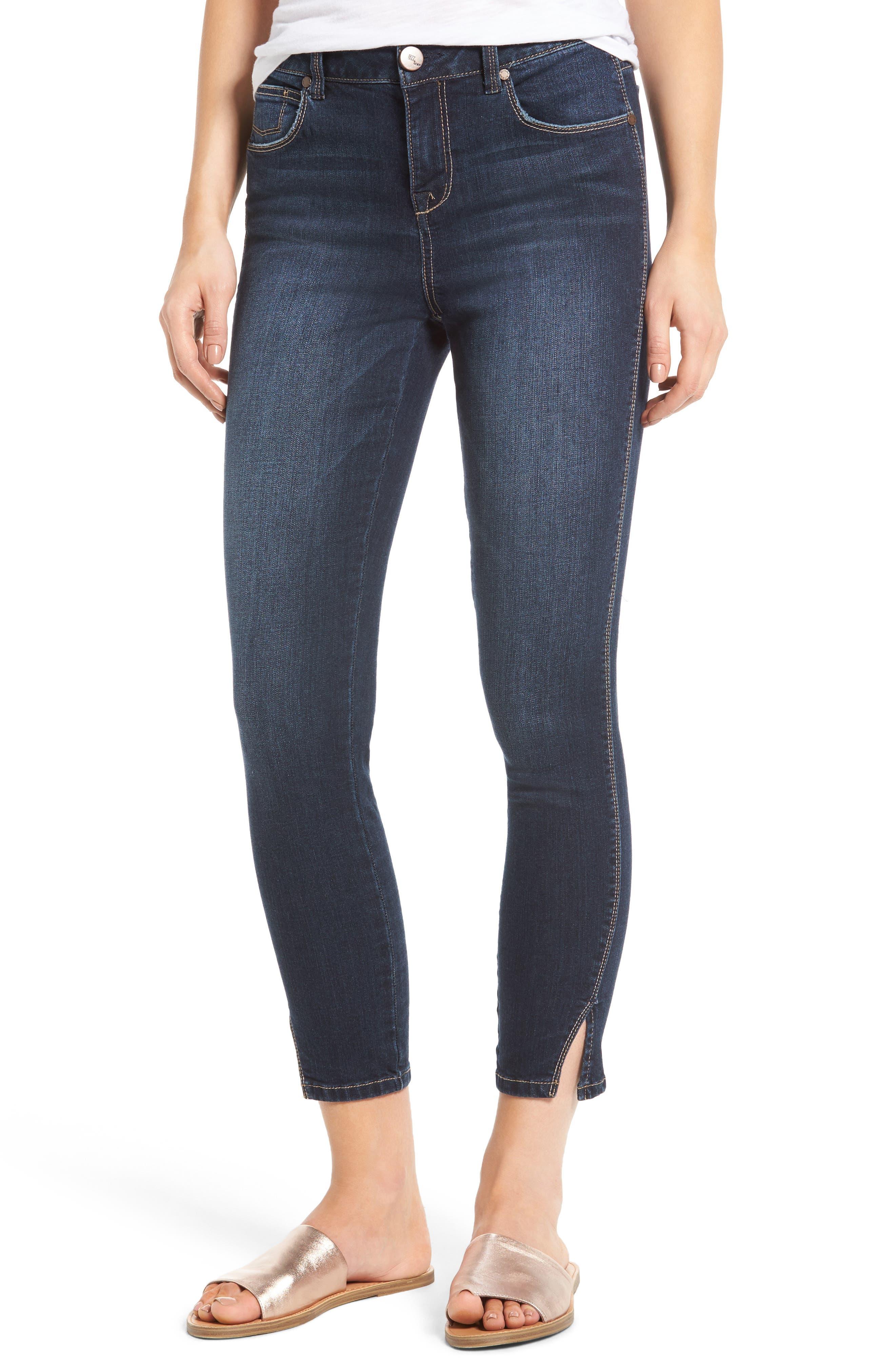 1822 Denim Slit Ankle High Waist Skinny Jeans (Milan)