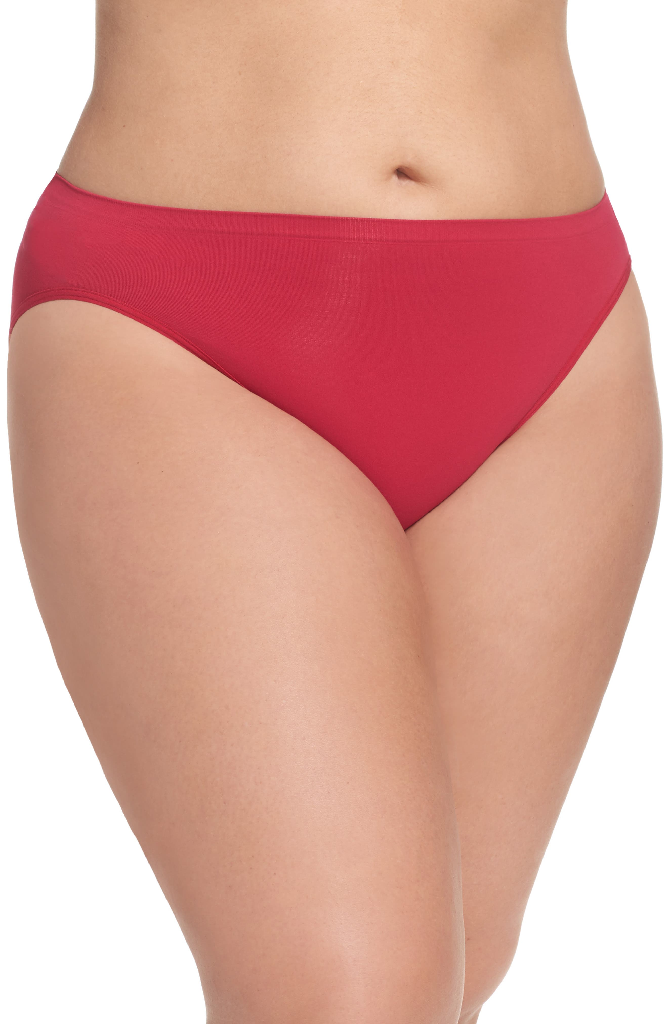 Nordstrom Lingerie Seamless High Cut Briefs (Plus Size) (4 for $34)