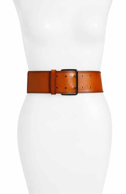 Hinge Wide Leather Belt
