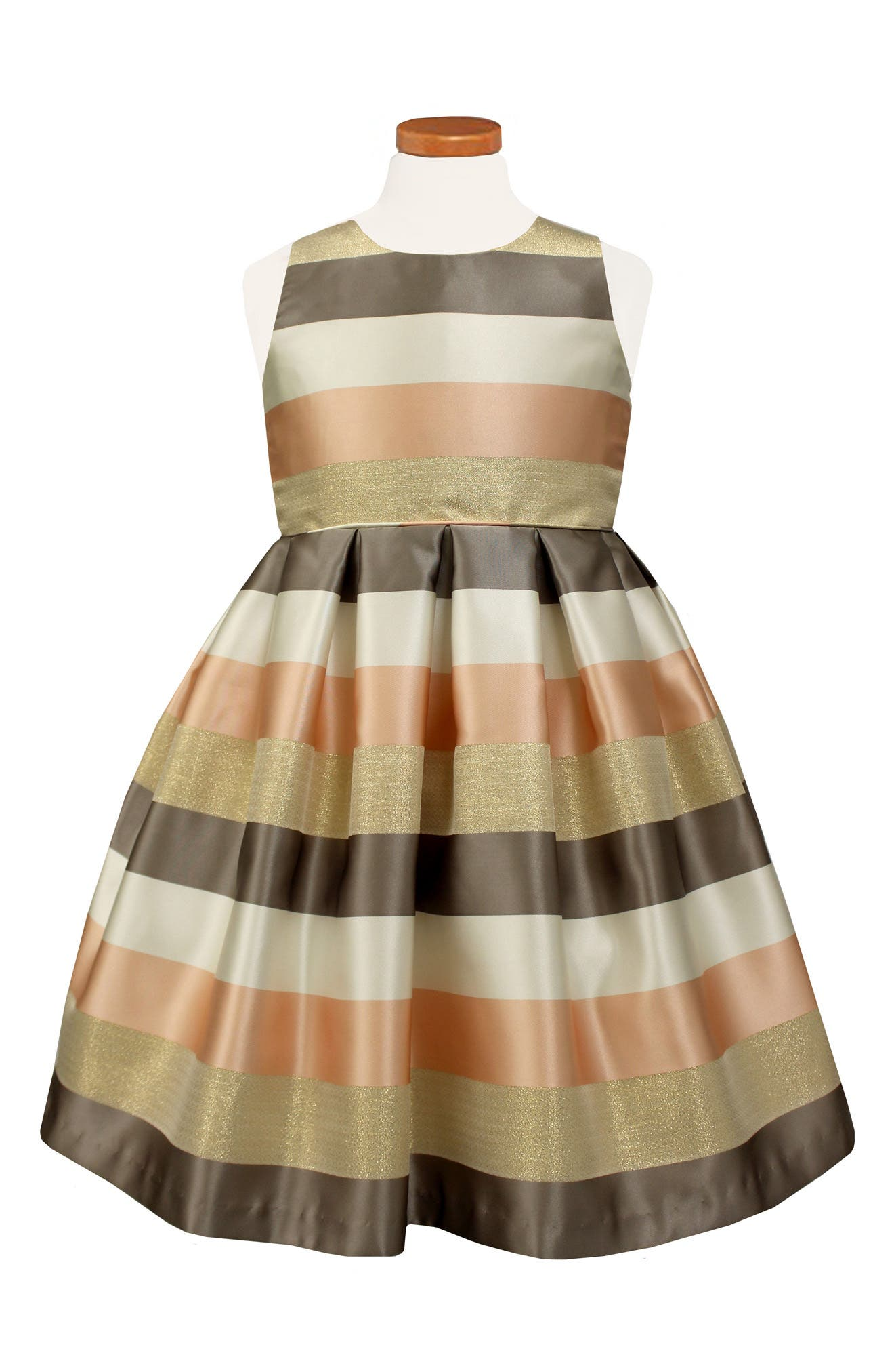 Sorbet Metallic Stripe Party Dress (Toddler Girls, Little Girls & Big Girls)