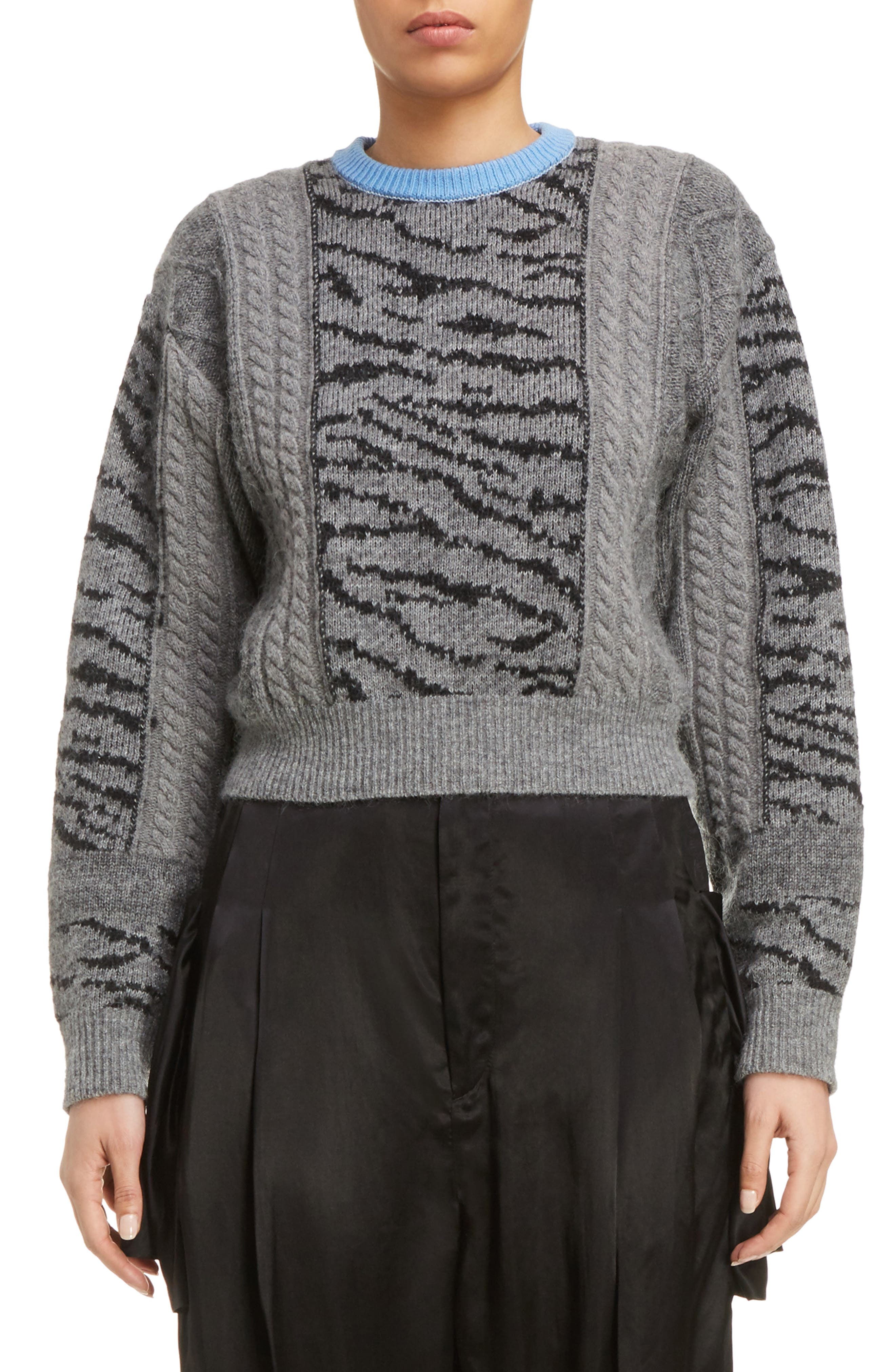 TOGA Tiger Jacquard Knit Sweater