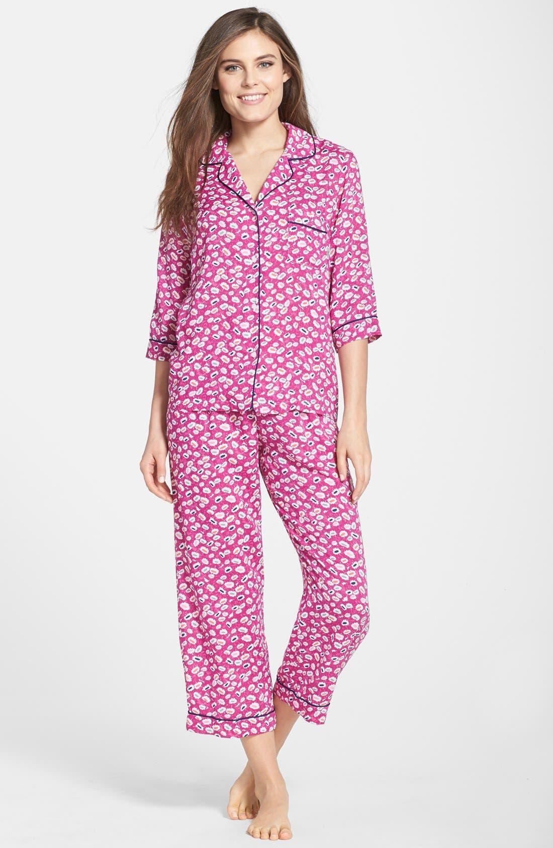 Alternate Image 1 Selected - DKNY Print Capri Pajamas