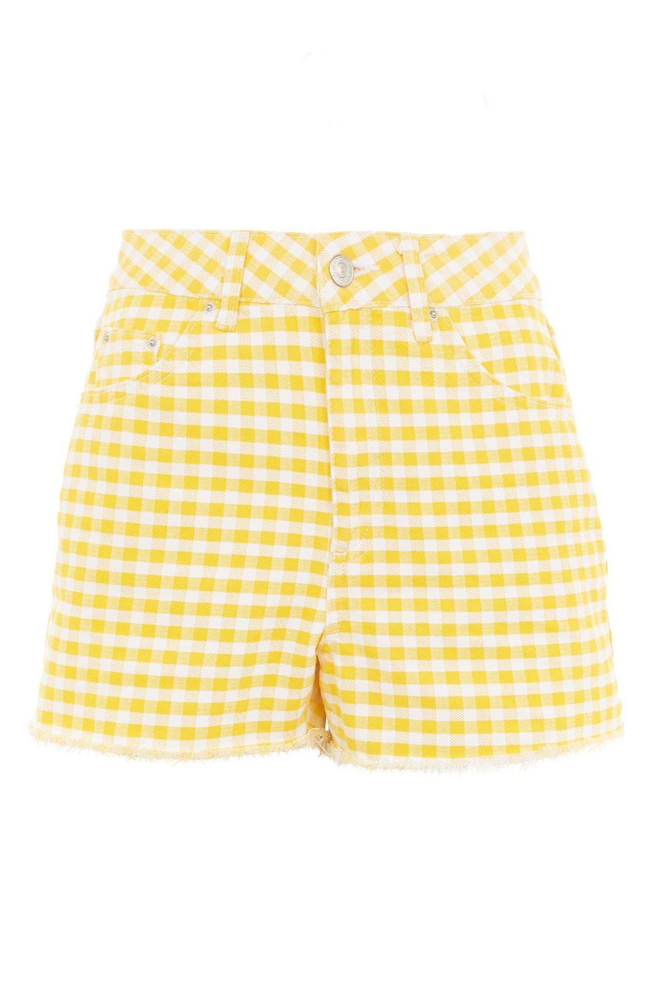 Alternate Image 3  - Topshop Gingham Mom Shorts