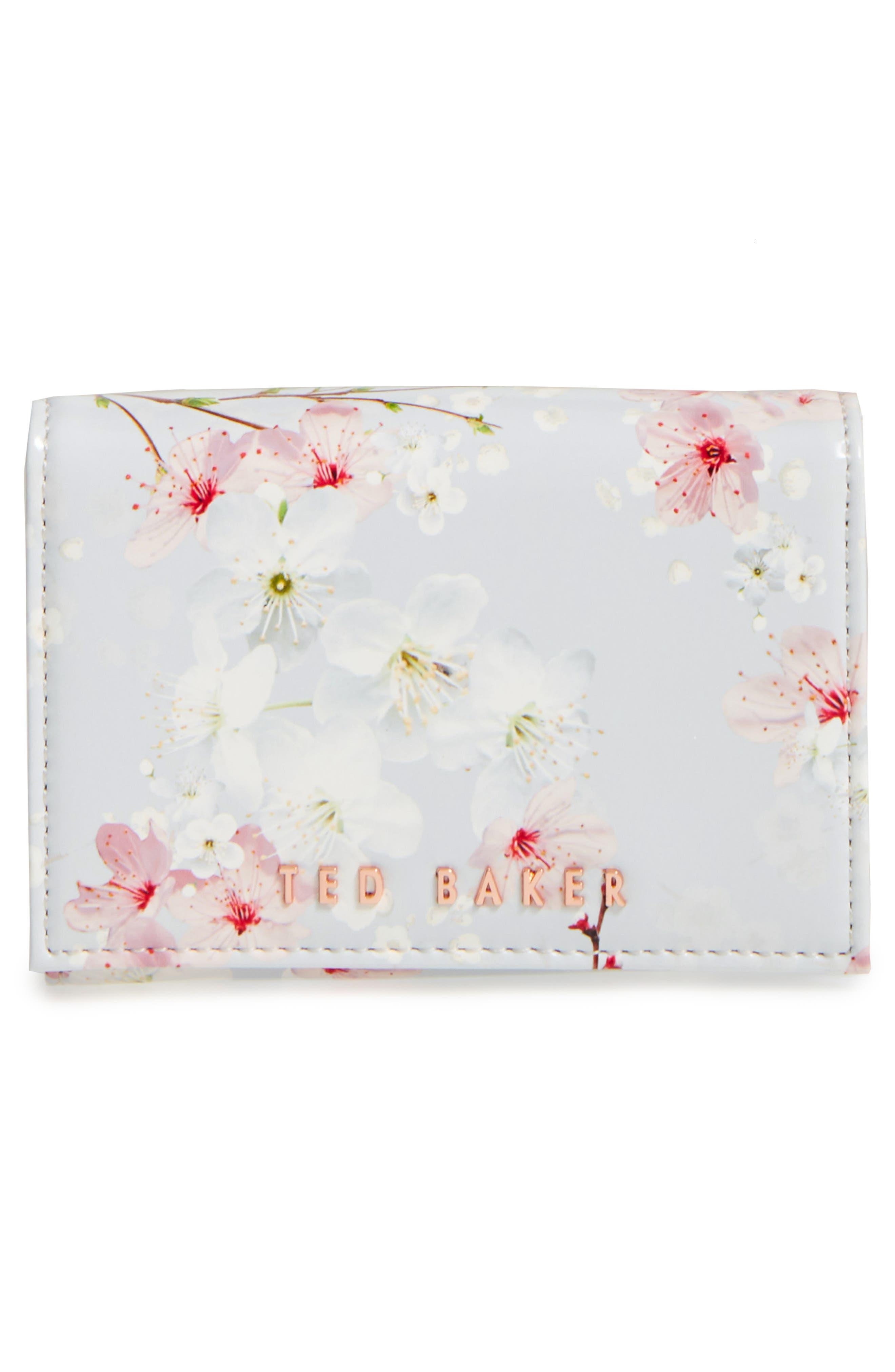 Ted Baker London Oriental Blossom Small Foldover Wallet